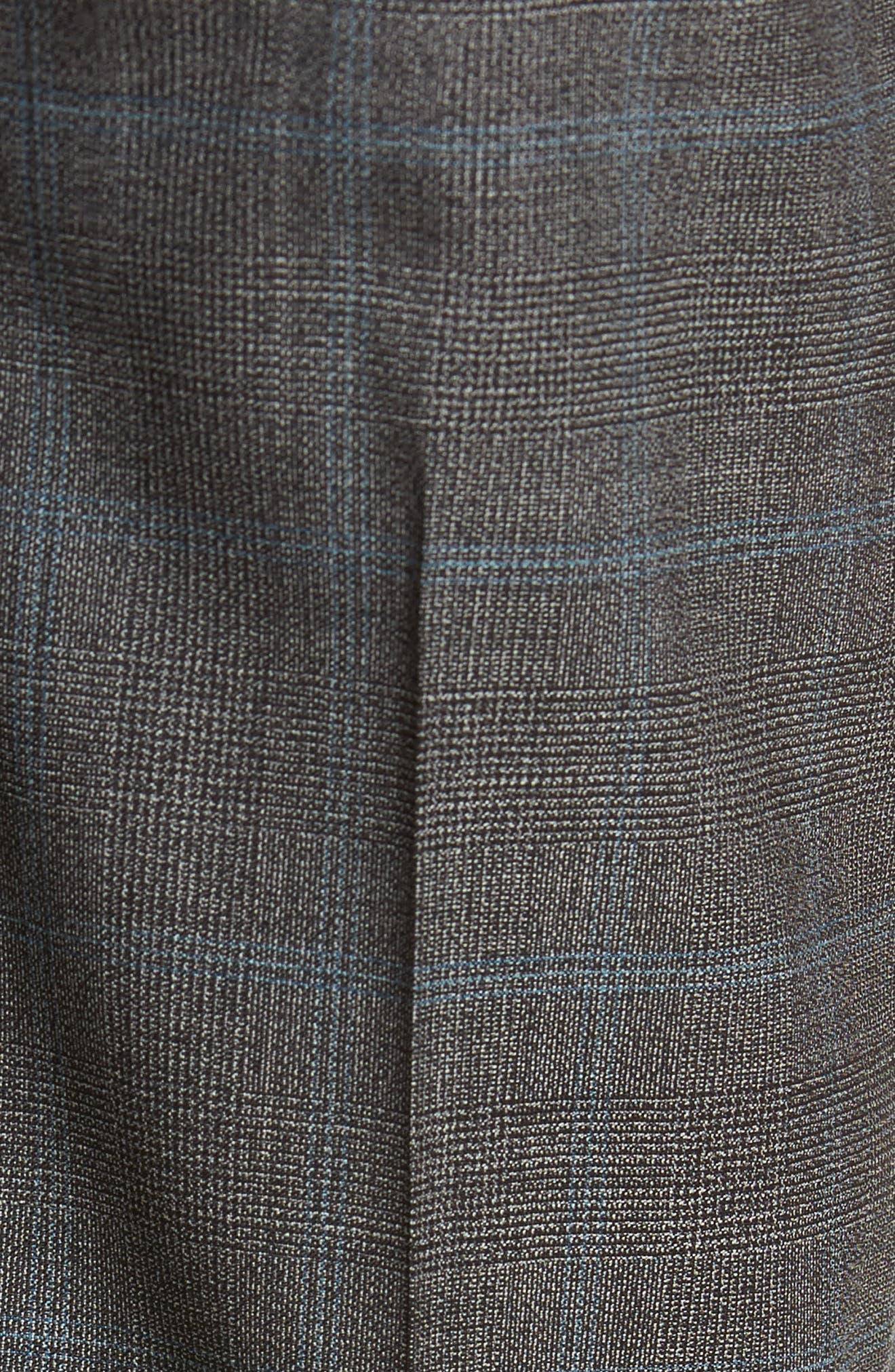 Genesis Flat Front Plaid Wool Trousers,                             Alternate thumbnail 5, color,                             061