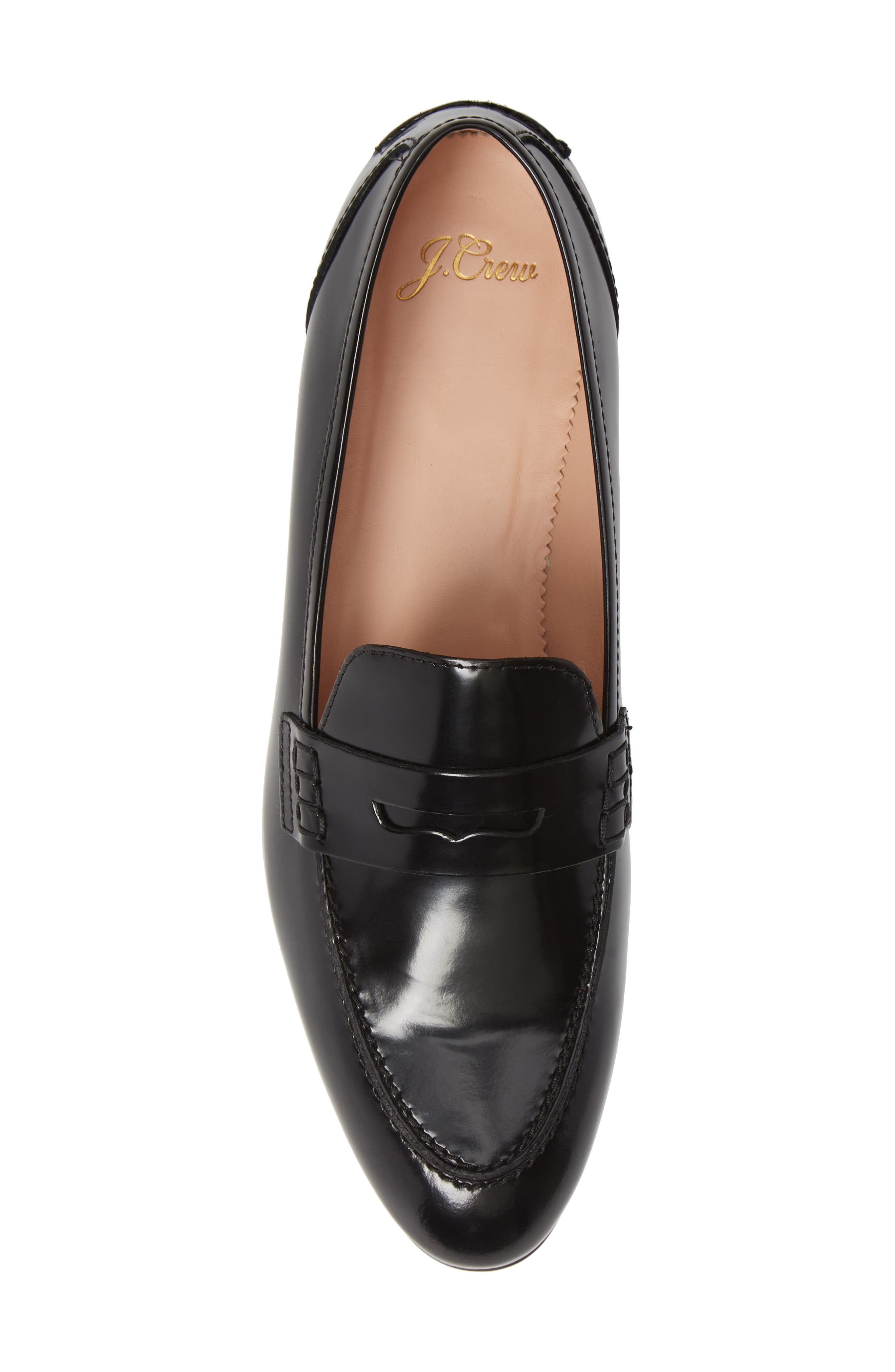 Academy Penny Loafer,                             Alternate thumbnail 5, color,                             BLACK LEATHER