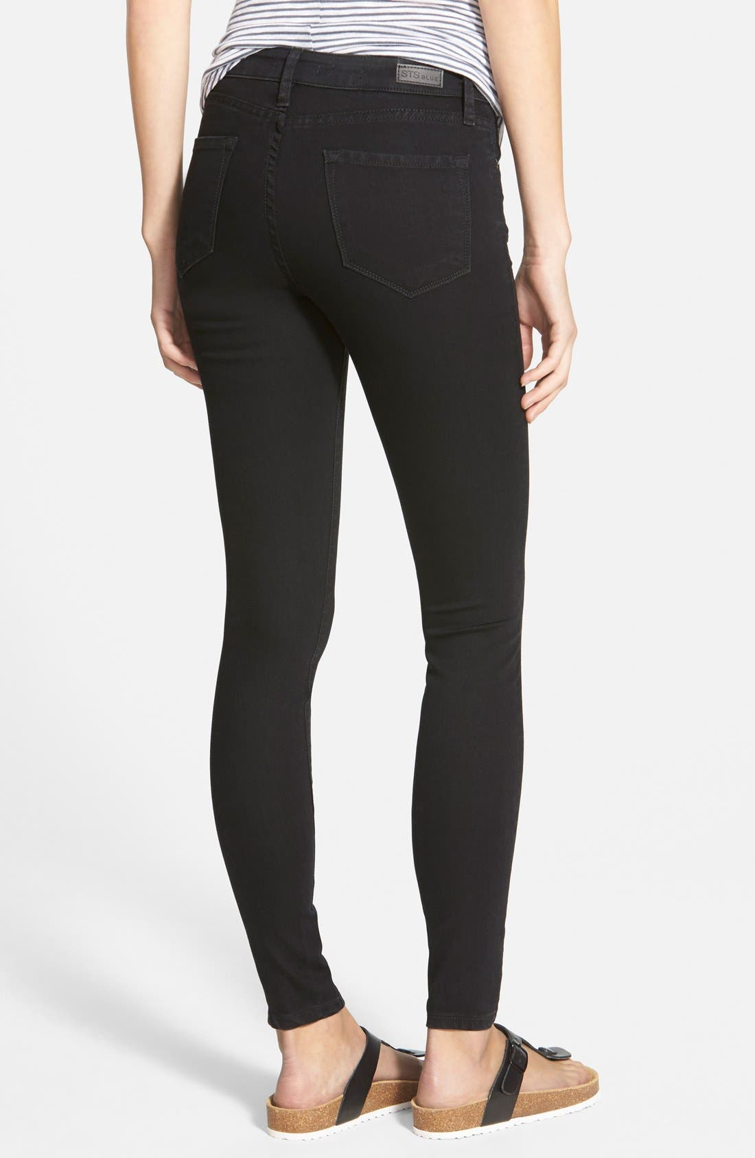 'Piper' Skinny Jeans,                             Alternate thumbnail 4, color,                             001