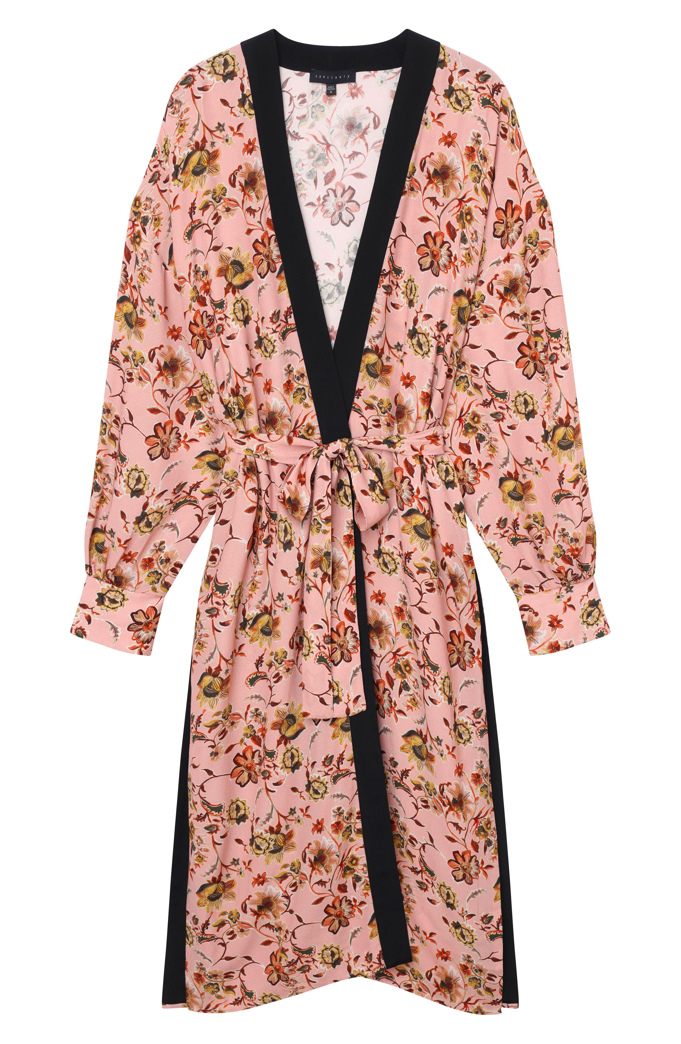 Calico Print Kimono,                             Alternate thumbnail 8, color,