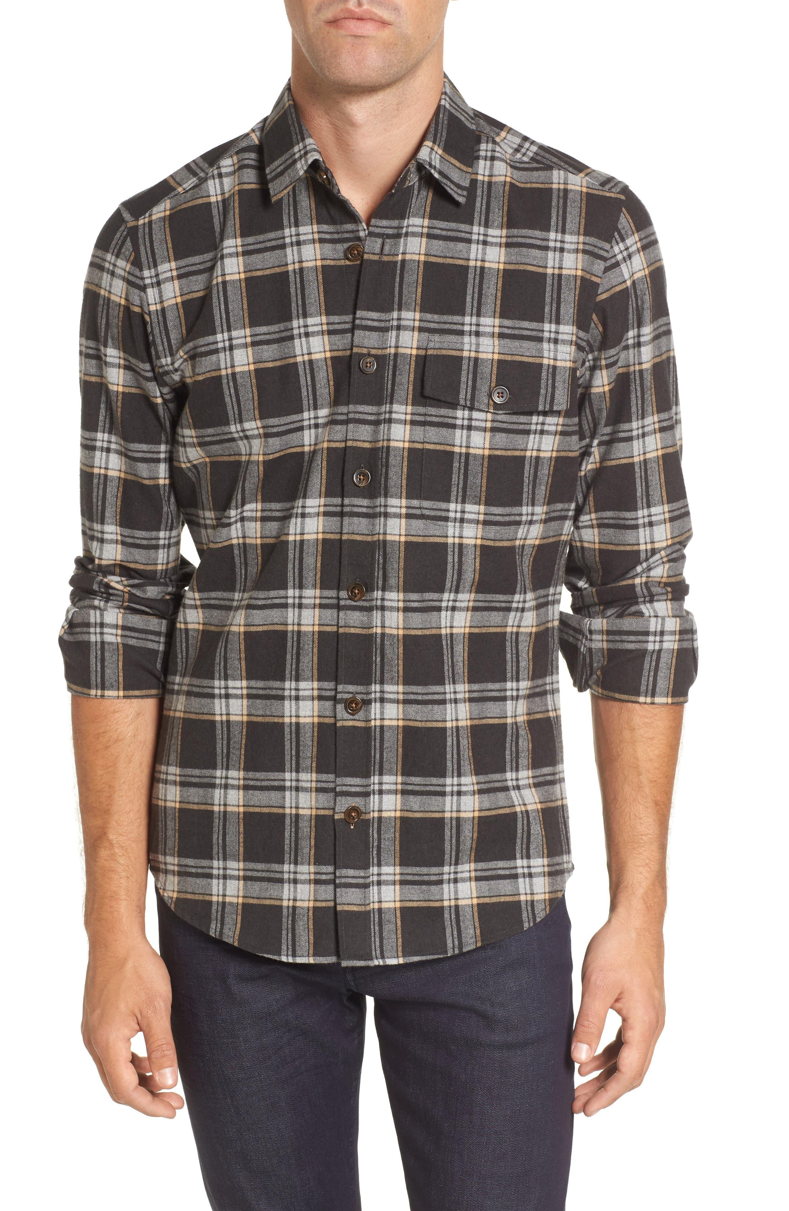 Lalo Plaid Flannel Shirt,                         Main,                         color, 262