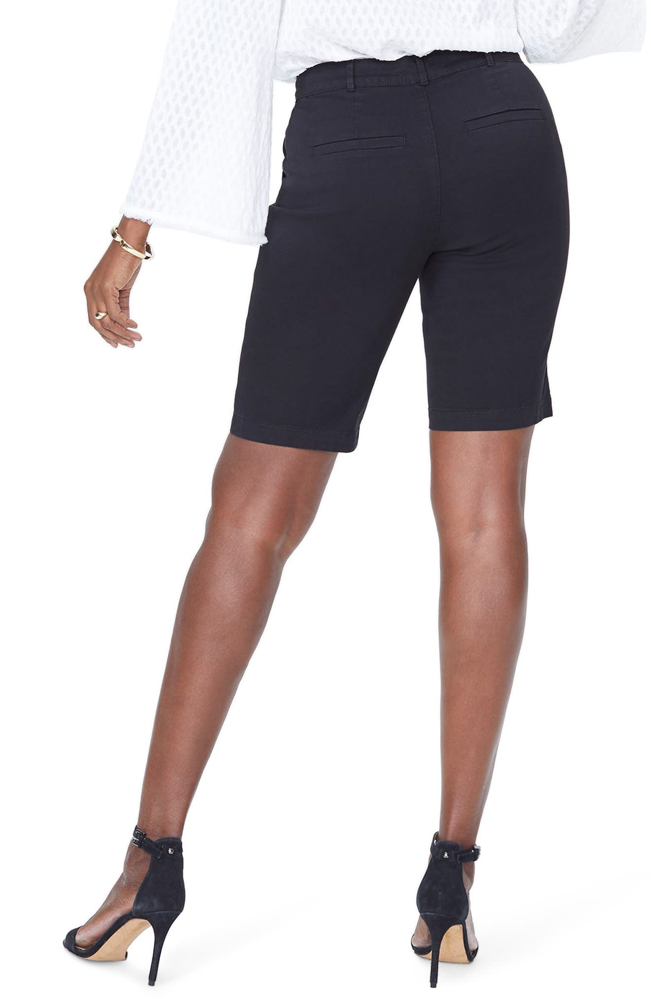 Stretch Twill Bermuda Shorts,                             Alternate thumbnail 2, color,                             001