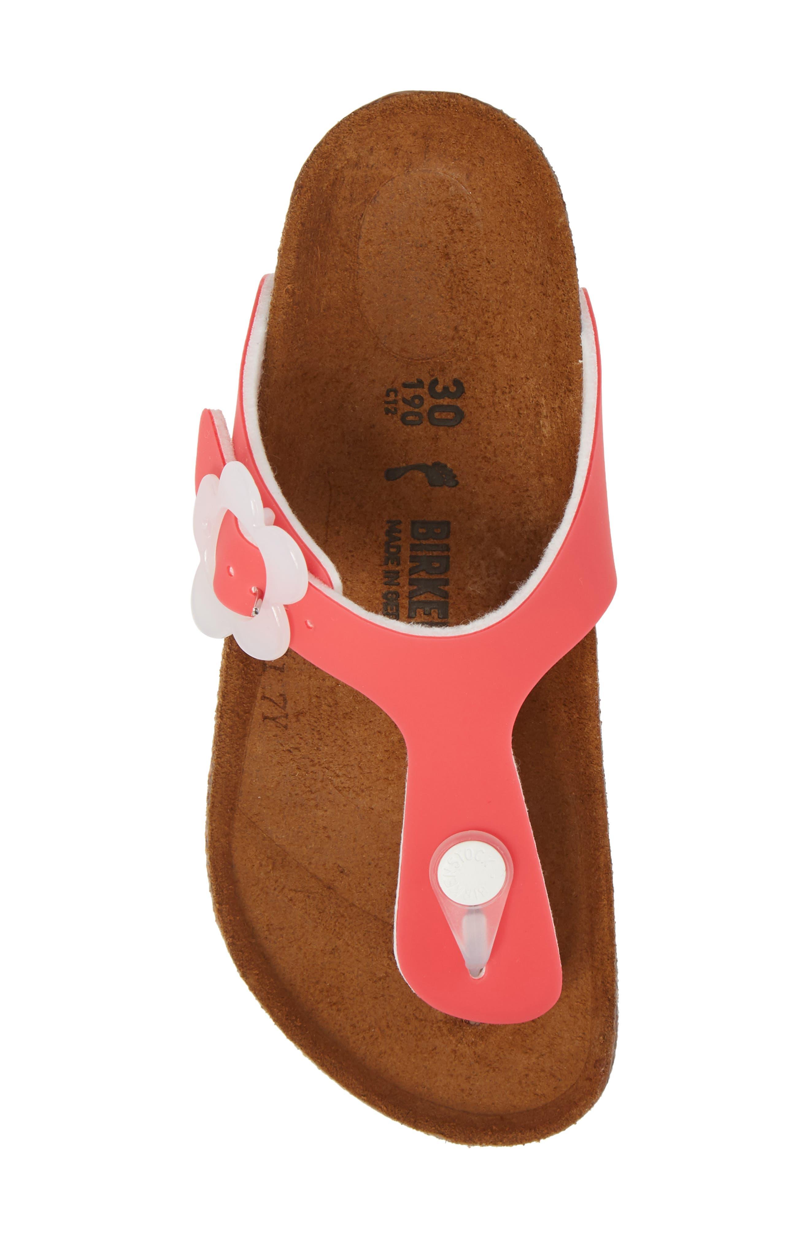 Gizeh Flowered Thong Sandal,                             Alternate thumbnail 5, color,                             650