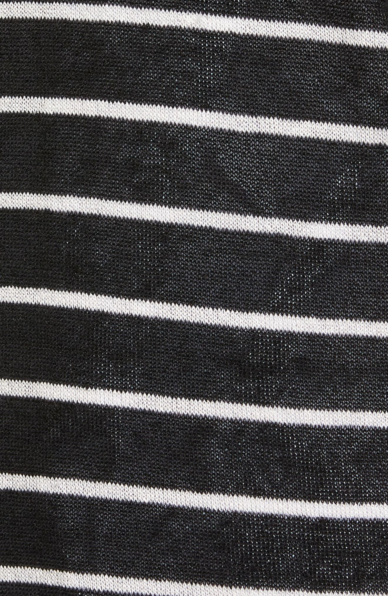 Long Linen Blend Cardigan,                             Alternate thumbnail 6, color,                             002