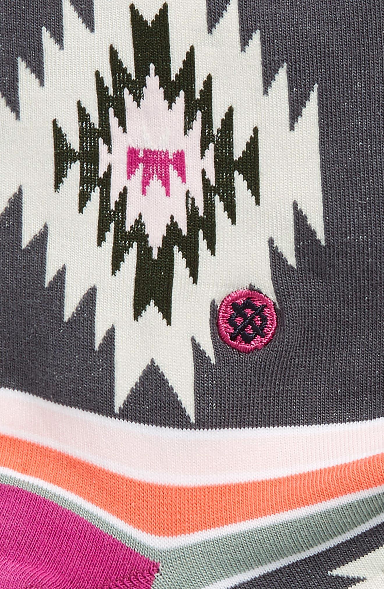 Kay Geo Patterned Crew Socks,                             Alternate thumbnail 2, color,