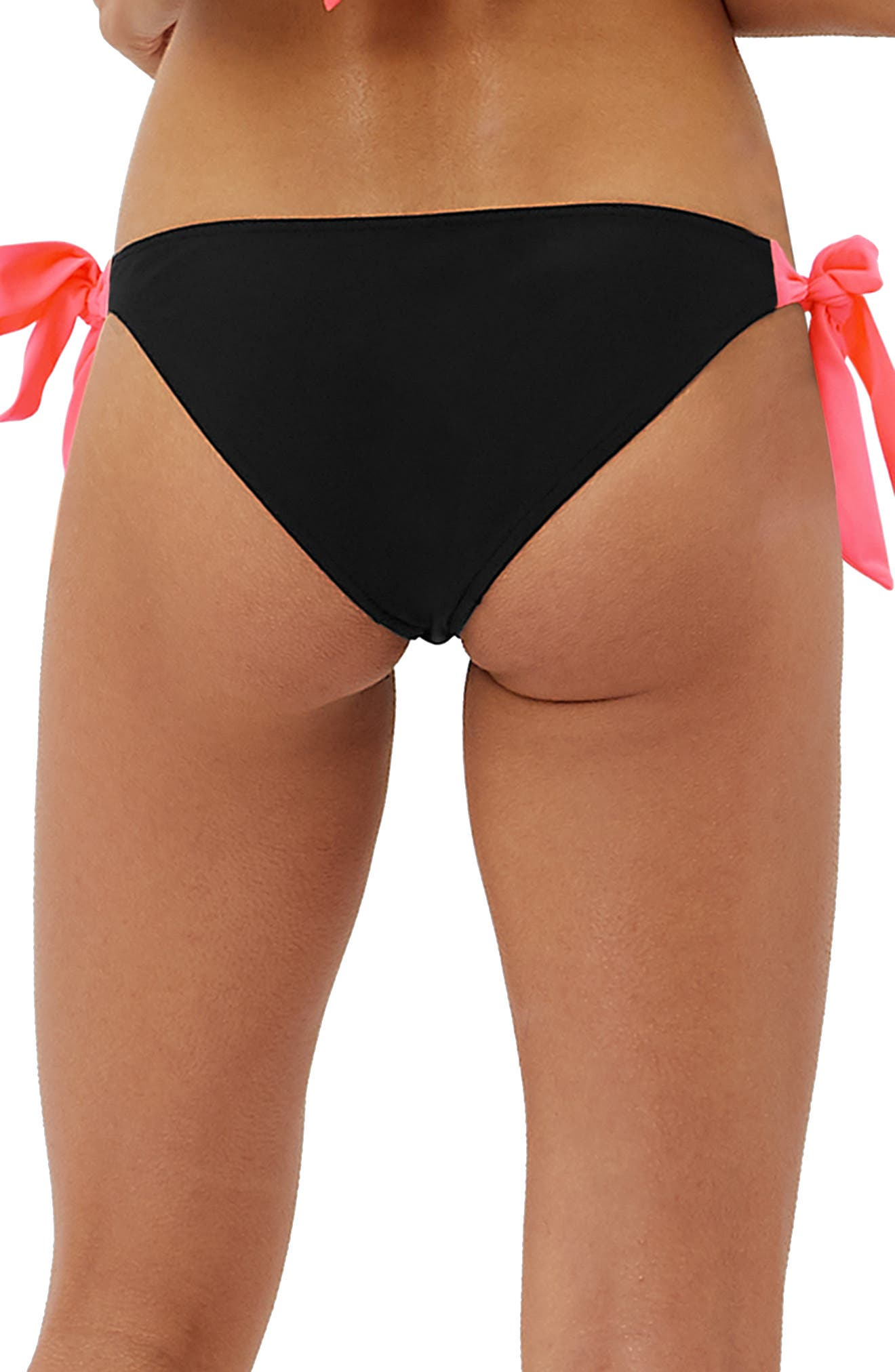 Glo Reversible Bikini Bottoms,                             Alternate thumbnail 3, color,                             BLACK