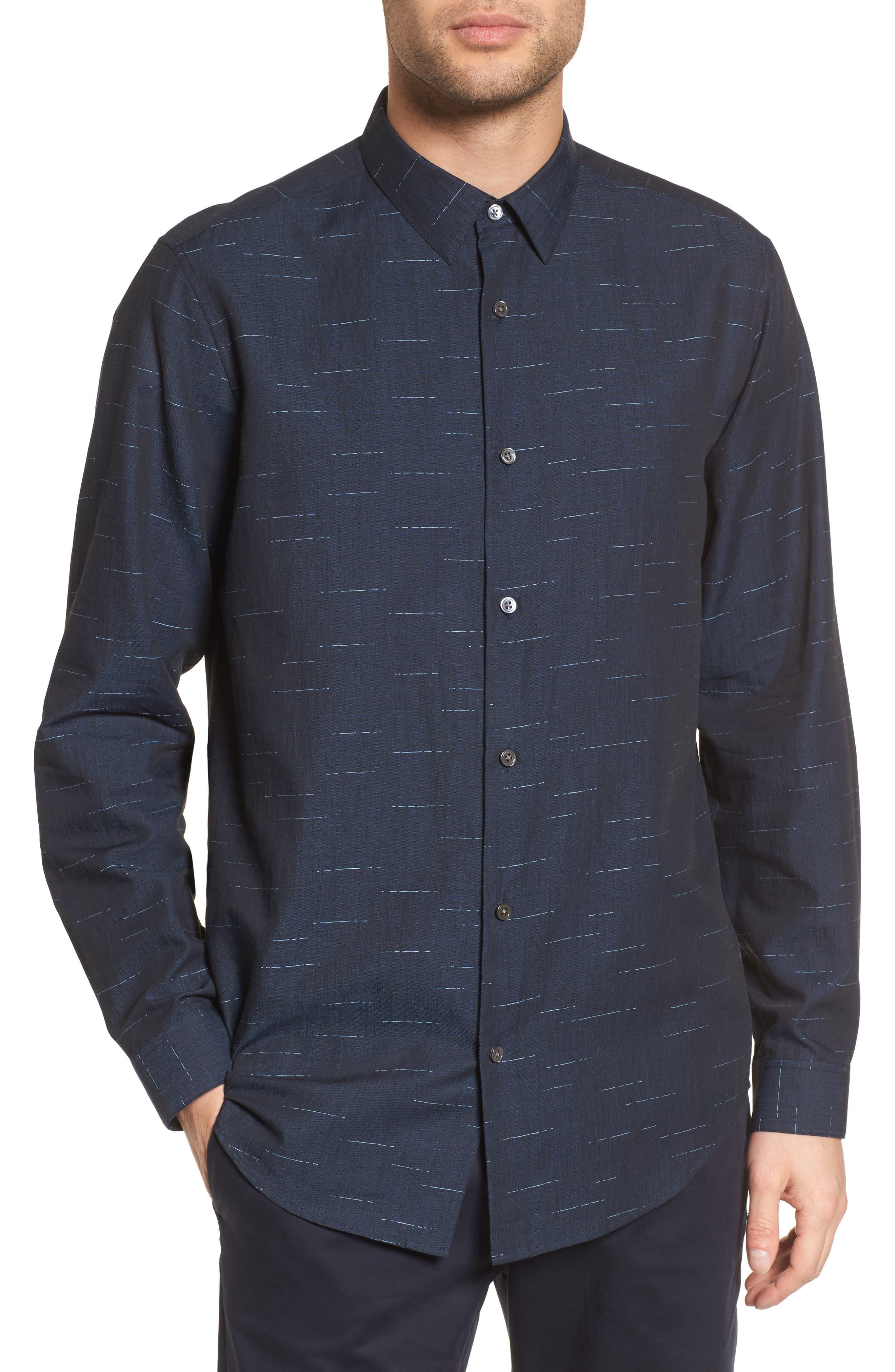 Tait Trim Fit Print Sport Shirt,                         Main,                         color, 497