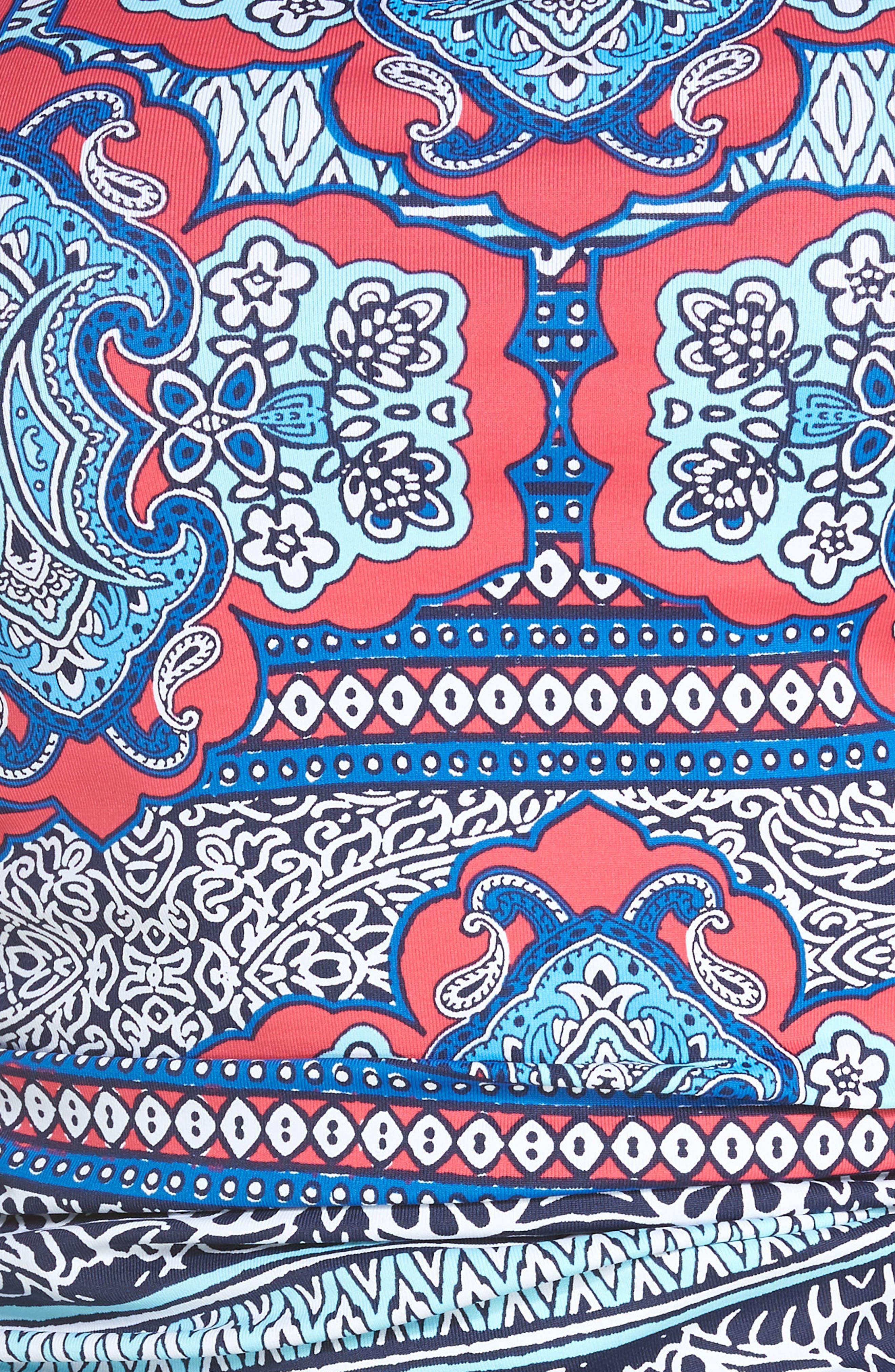 TOMMY BAHAMA,                             Riviera Tiles Strapless Tankini Top,                             Alternate thumbnail 5, color,                             650