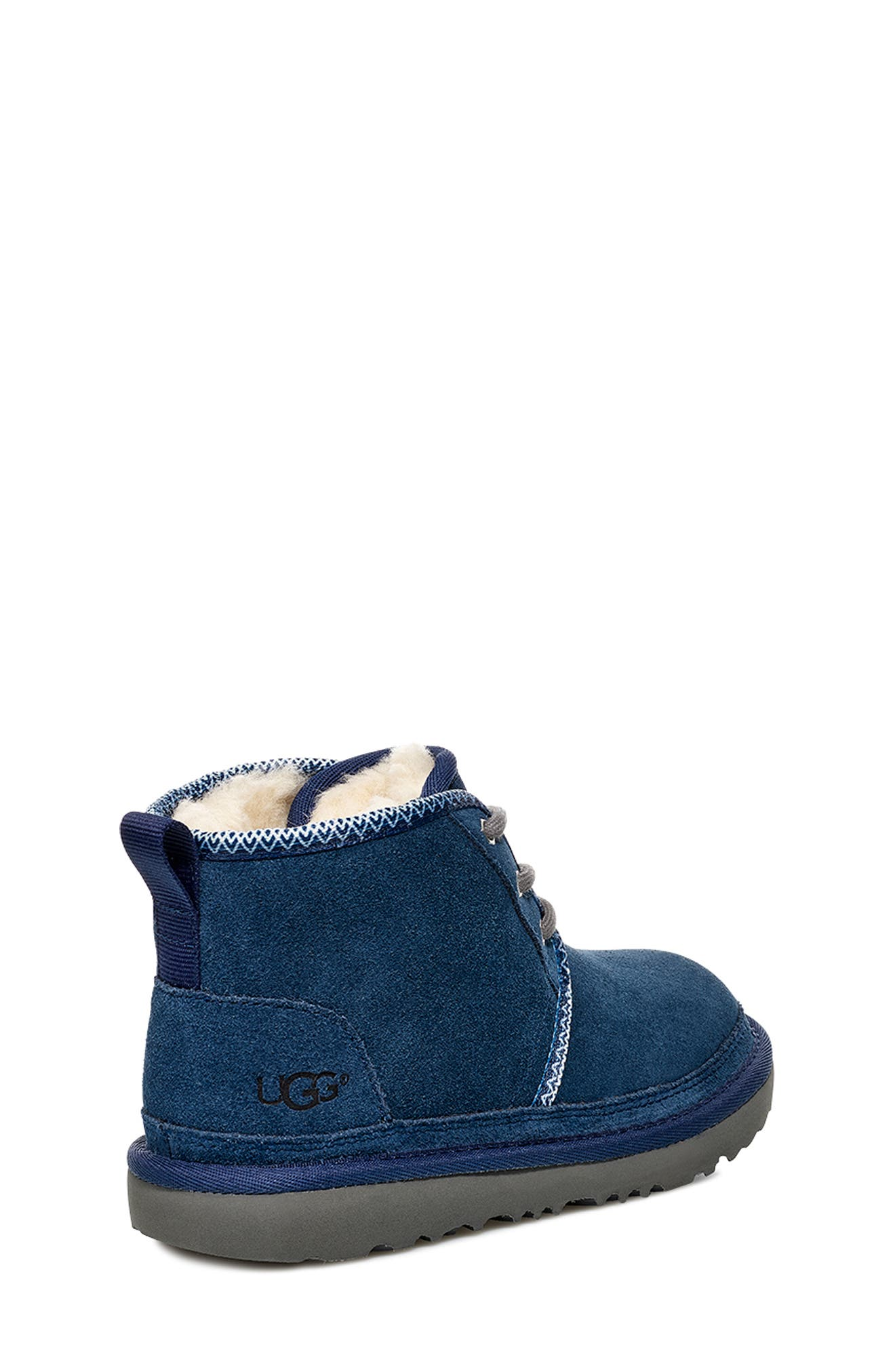 Neumel II Tasman Genuine Shearling Chukka Boot,                             Alternate thumbnail 2, color,                             NAVY / TASMAN