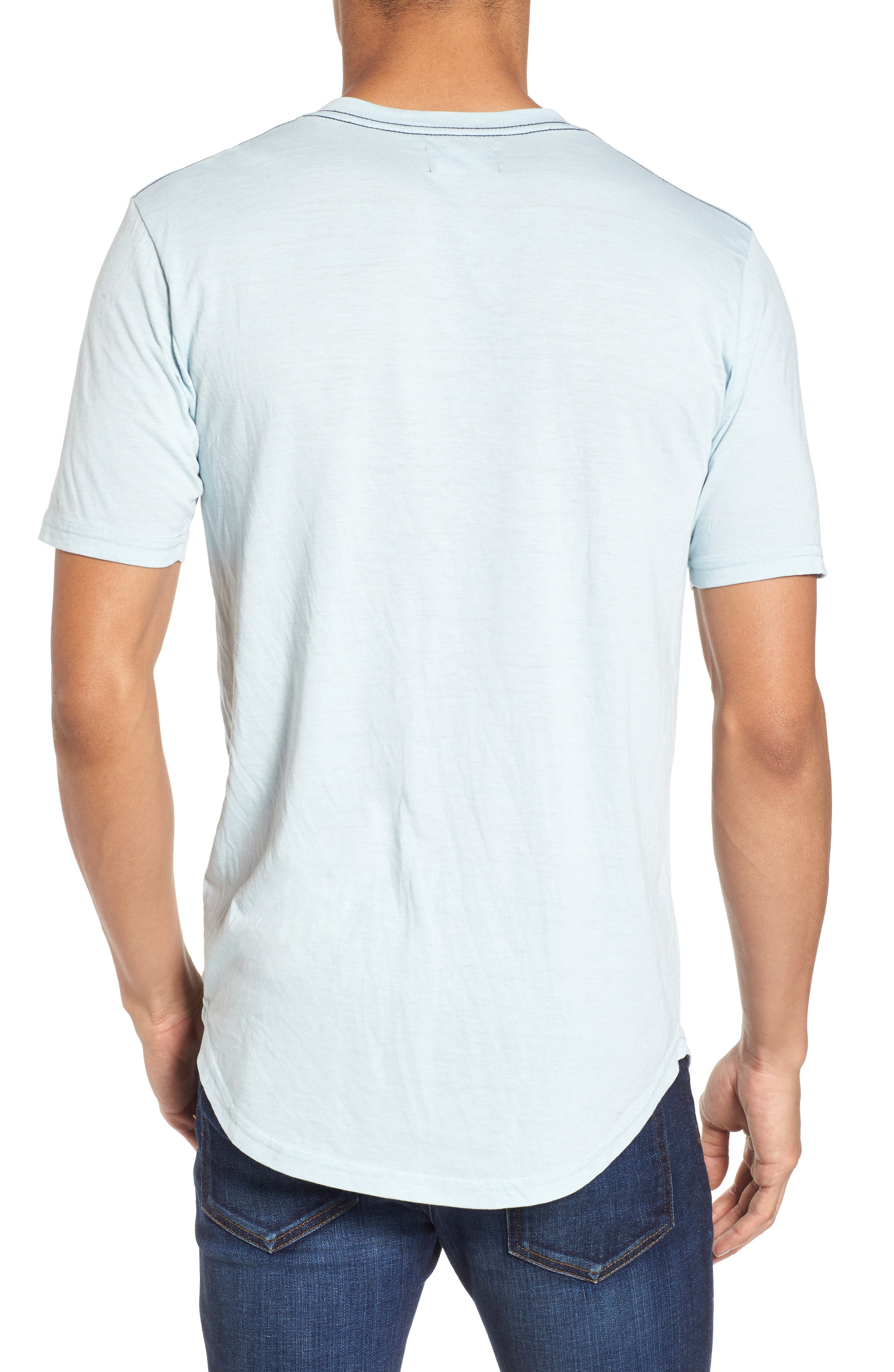 Scallop Triblend V-Neck T-Shirt,                             Alternate thumbnail 30, color,