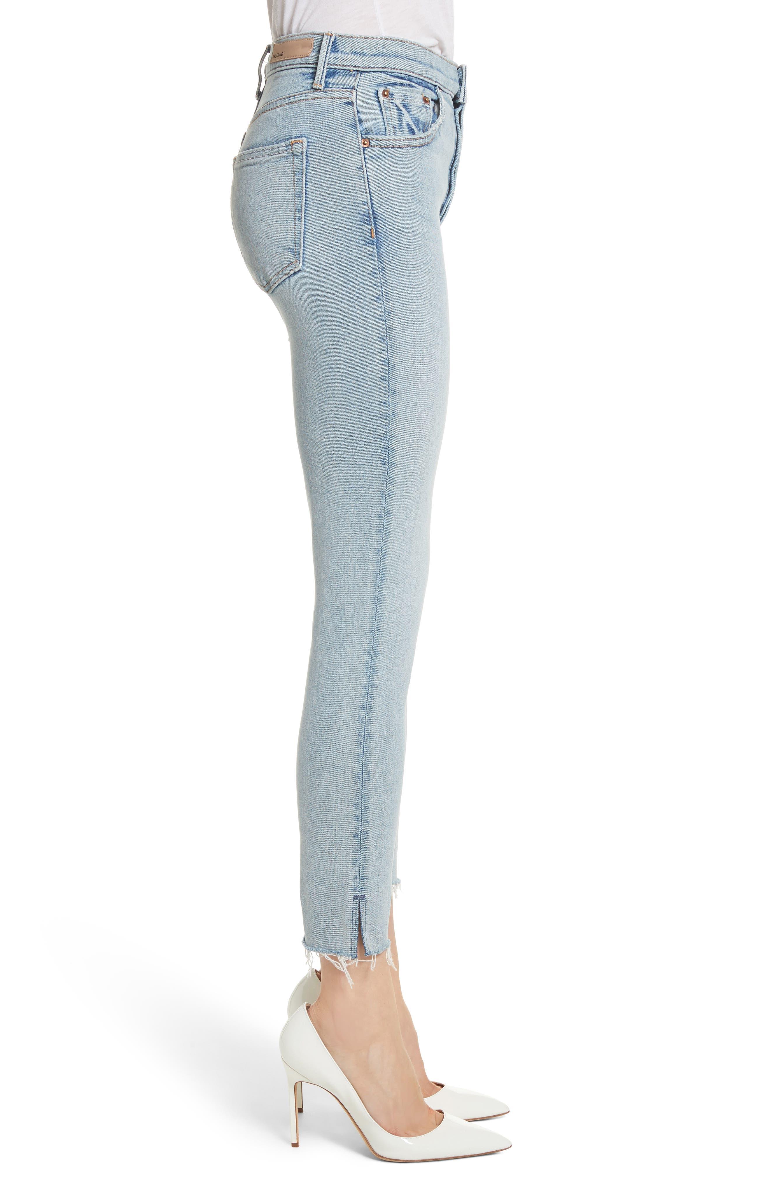Karolina High Waist Skinny Jeans,                             Alternate thumbnail 3, color,                             TITANIUM