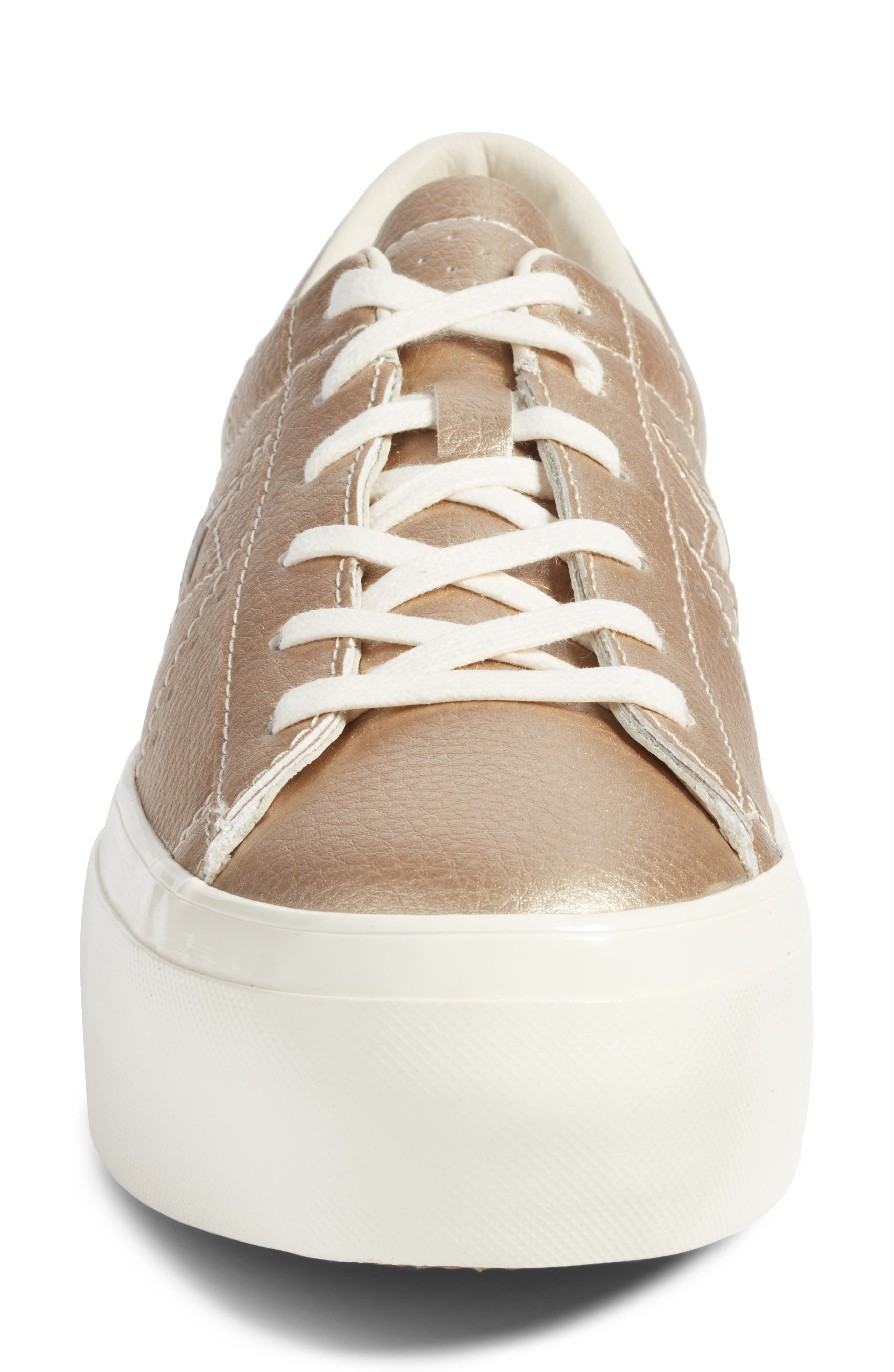 Chuck Taylor<sup>®</sup> All Star<sup>®</sup> One Star Metallic Platform Sneaker,                             Alternate thumbnail 4, color,