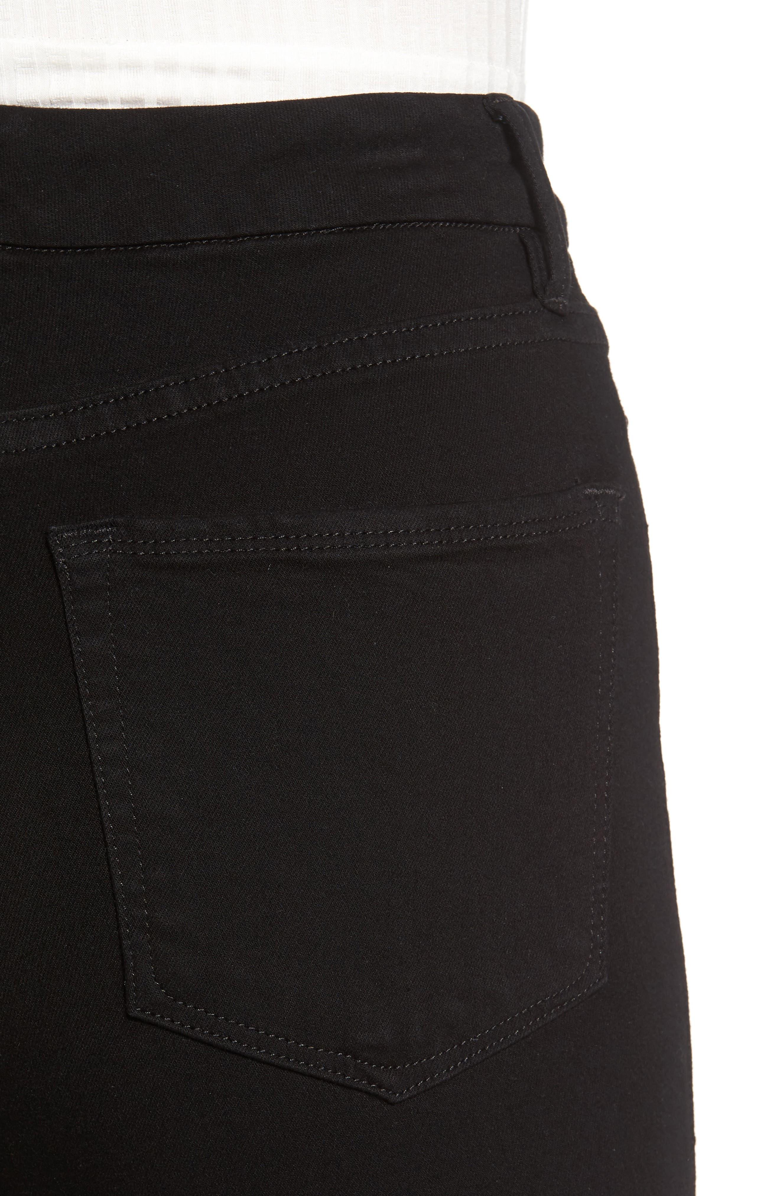 Good Waist Side Triangle Skinny Jeans,                             Alternate thumbnail 4, color,                             001