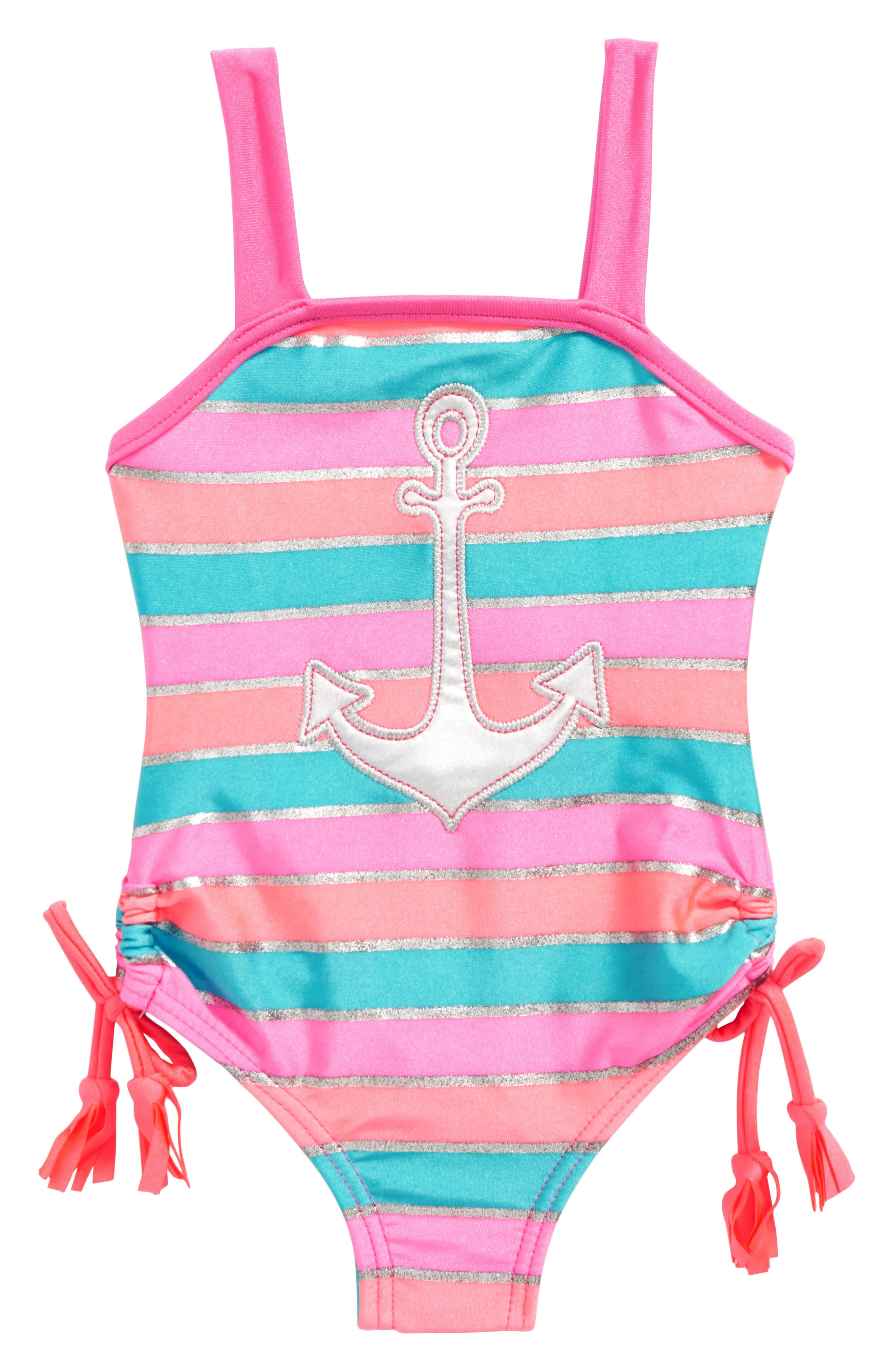Anchor One-Piece Swimsuit,                             Main thumbnail 1, color,                             650