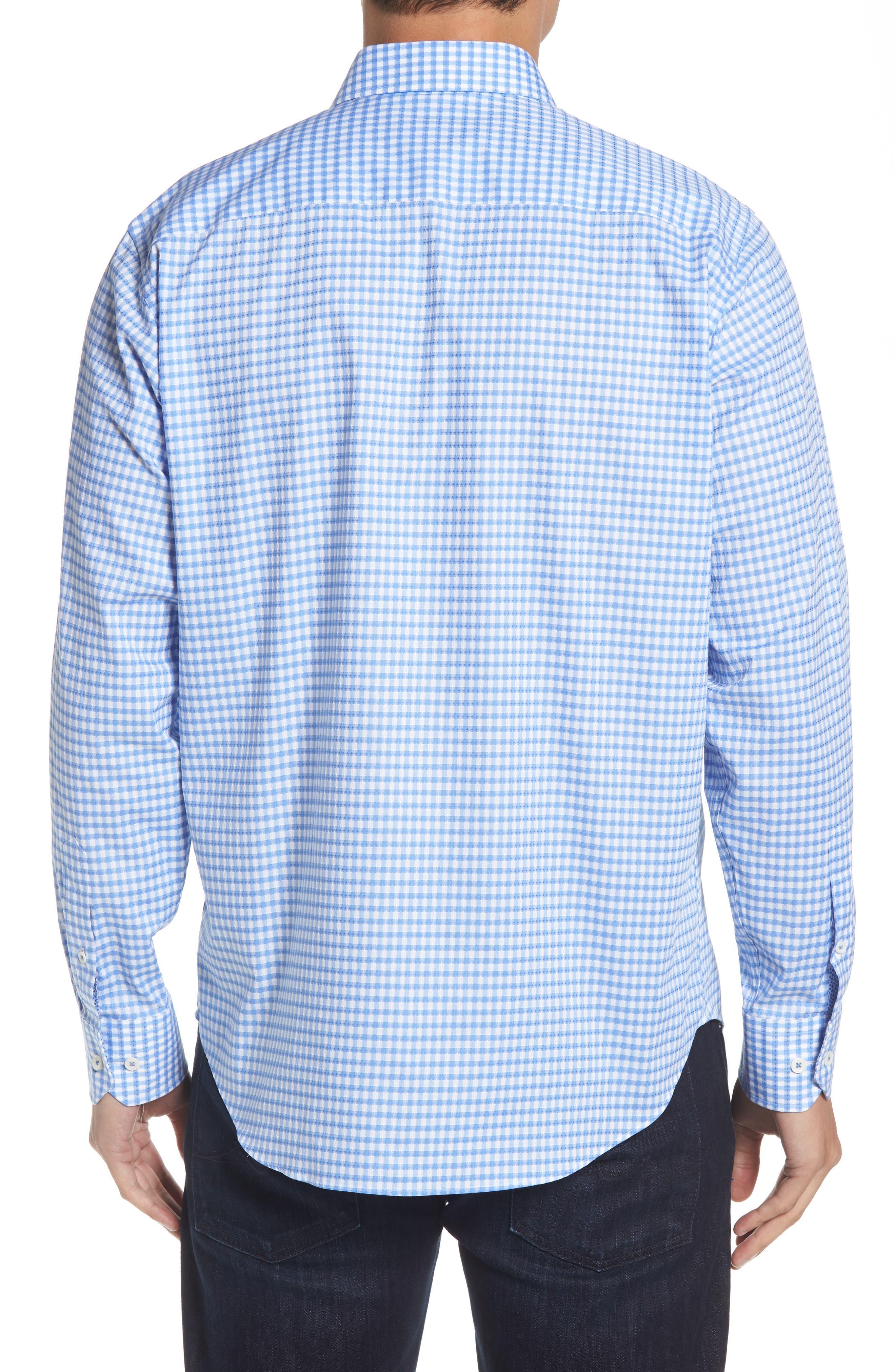 Classic Fit Mini Check Sport Shirt,                             Alternate thumbnail 2, color,                             423