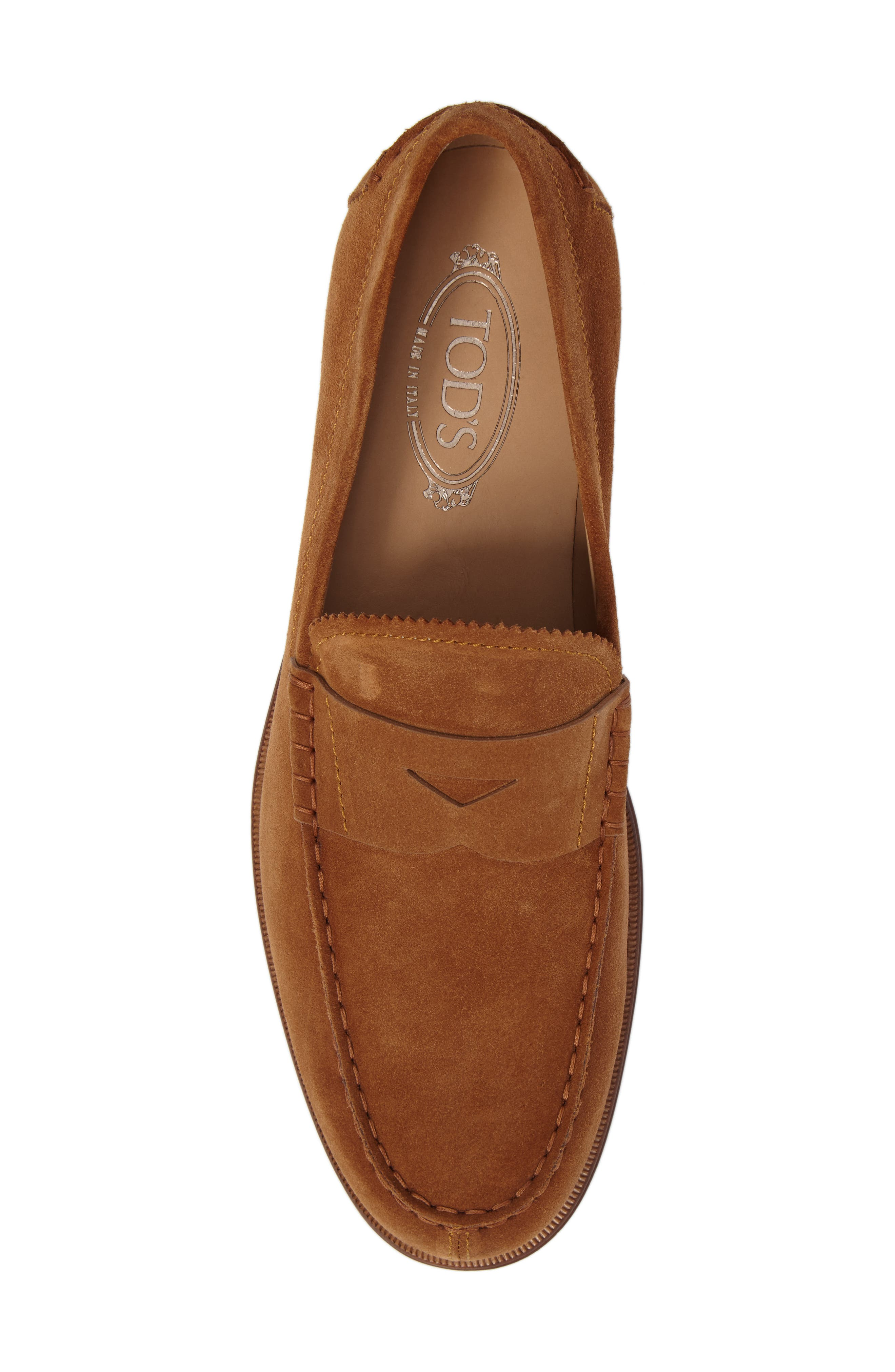 Suede Penny Loafer,                             Alternate thumbnail 5, color,                             215