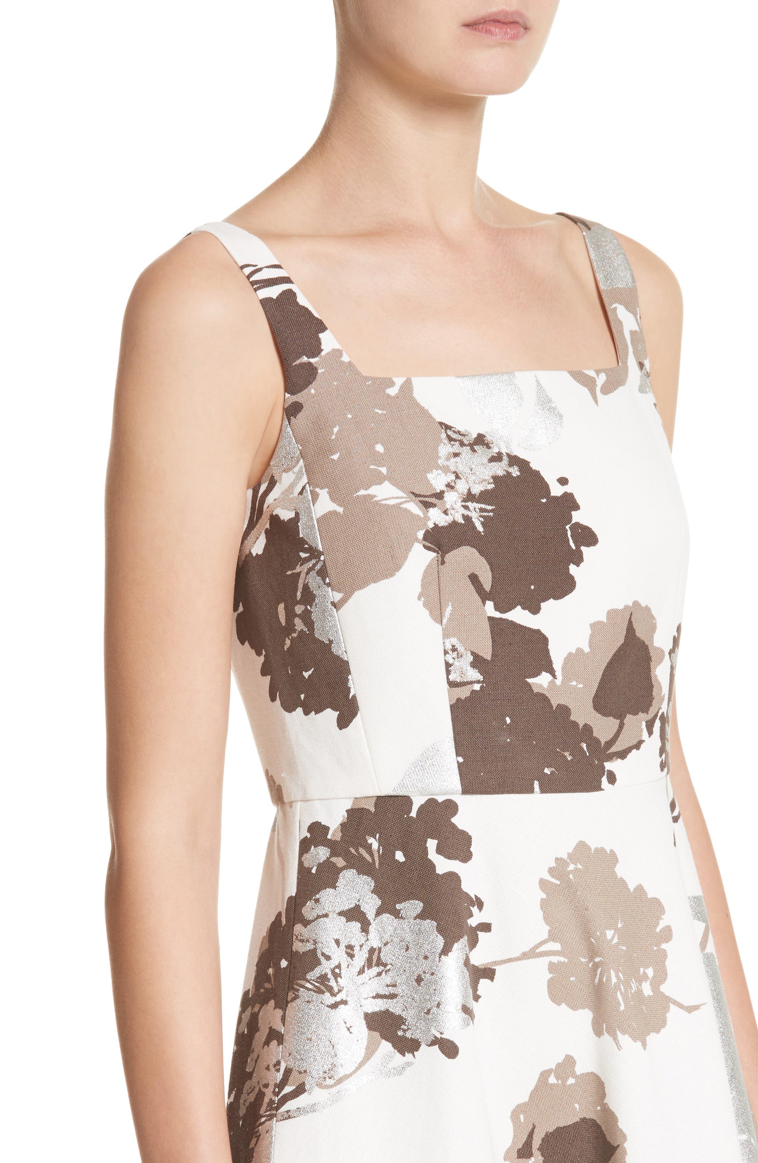 Arlene Print Midi Dress,                             Alternate thumbnail 4, color,                             125