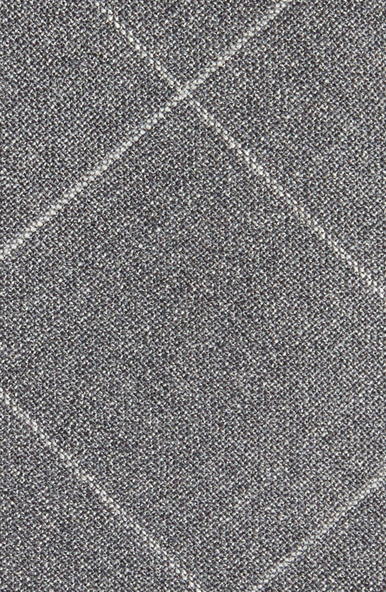 Tattersall Wool Skinny Tie,                             Alternate thumbnail 2, color,                             GREY