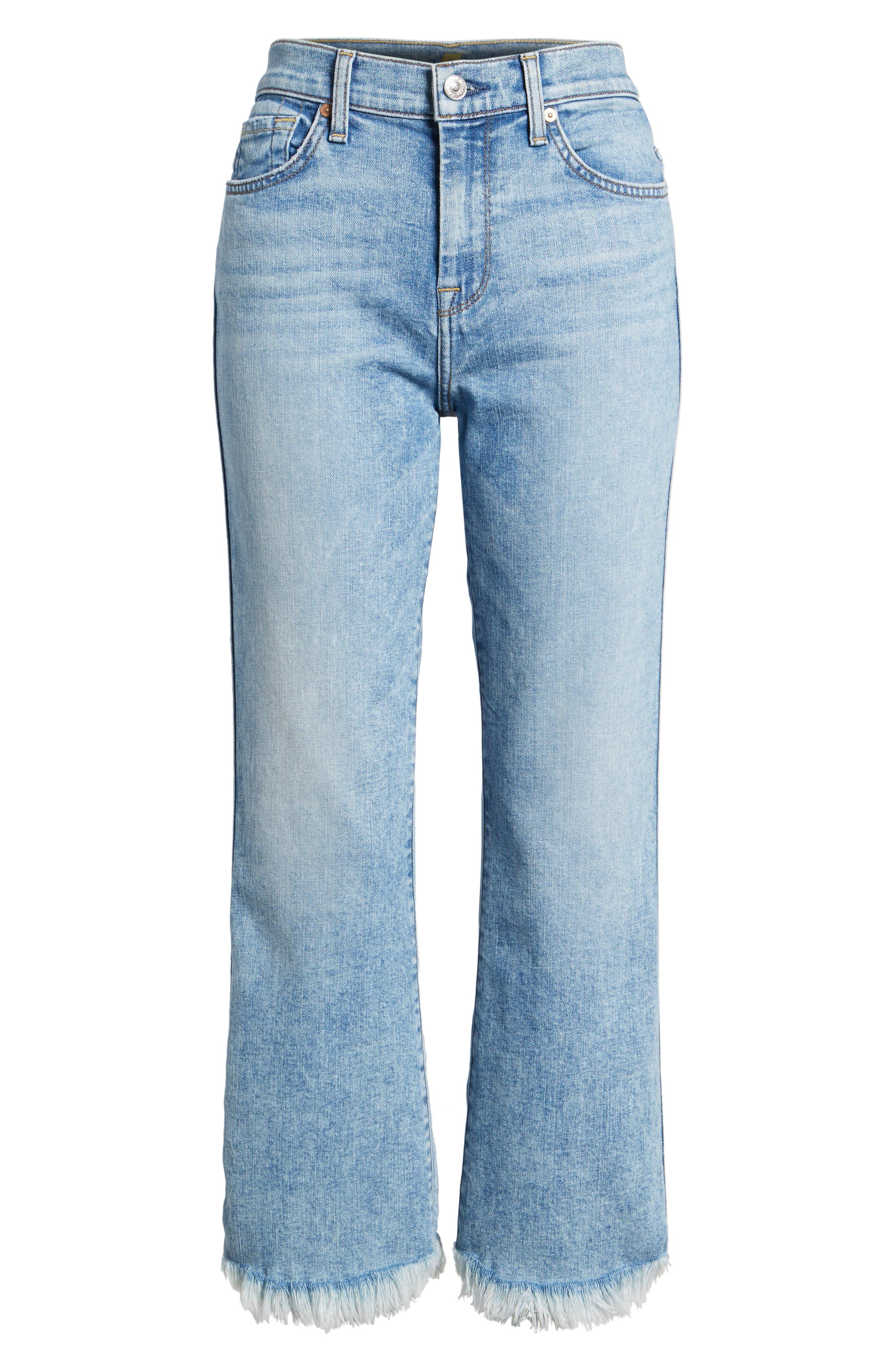 Ali High Waist Crop Flare Leg Jeans,                             Alternate thumbnail 6, color,                             RADIANT WYTHE