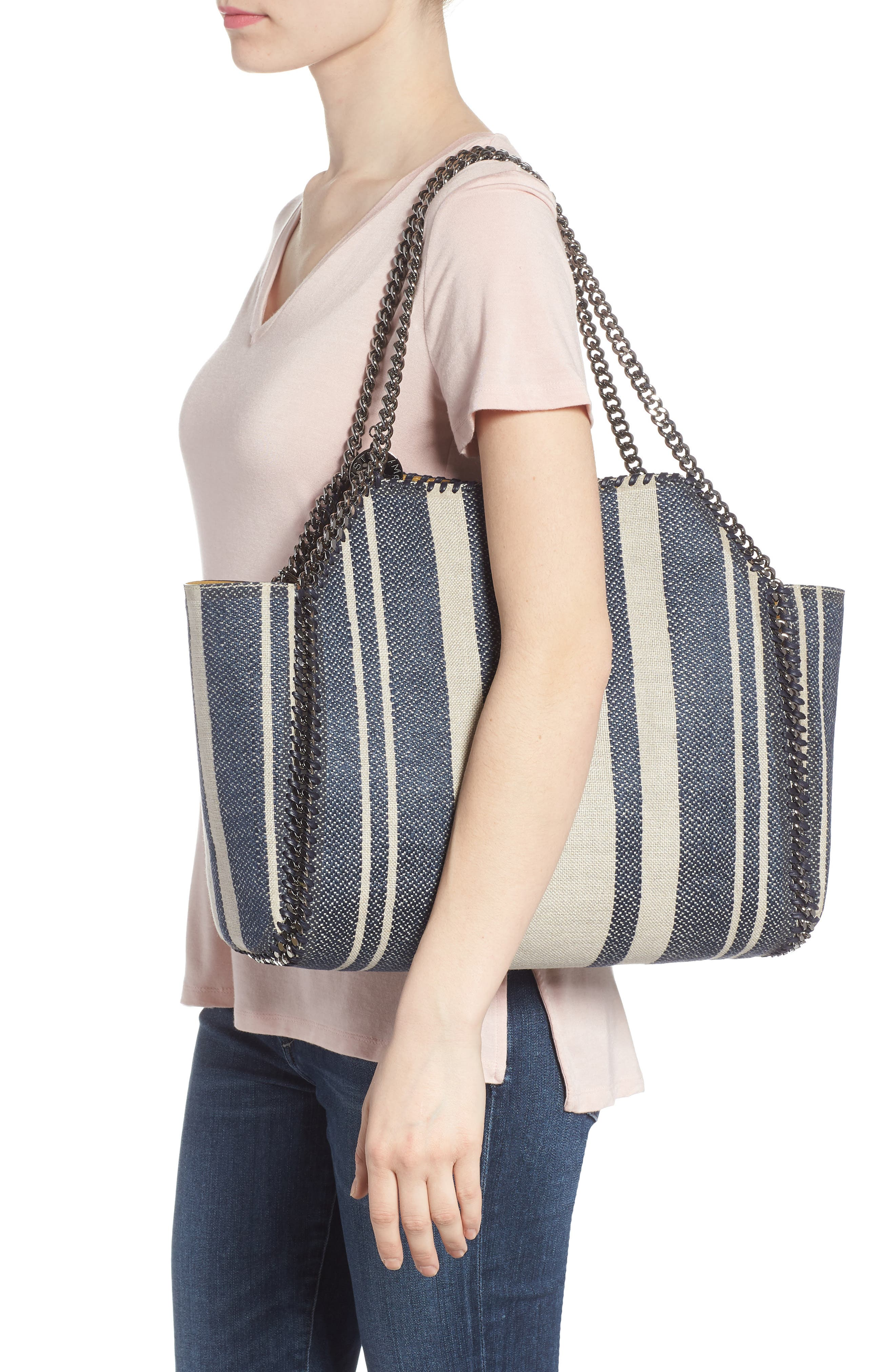 Falabella Small Reversible Canvas & Faux Leather Tote,                             Alternate thumbnail 2, color,                             400