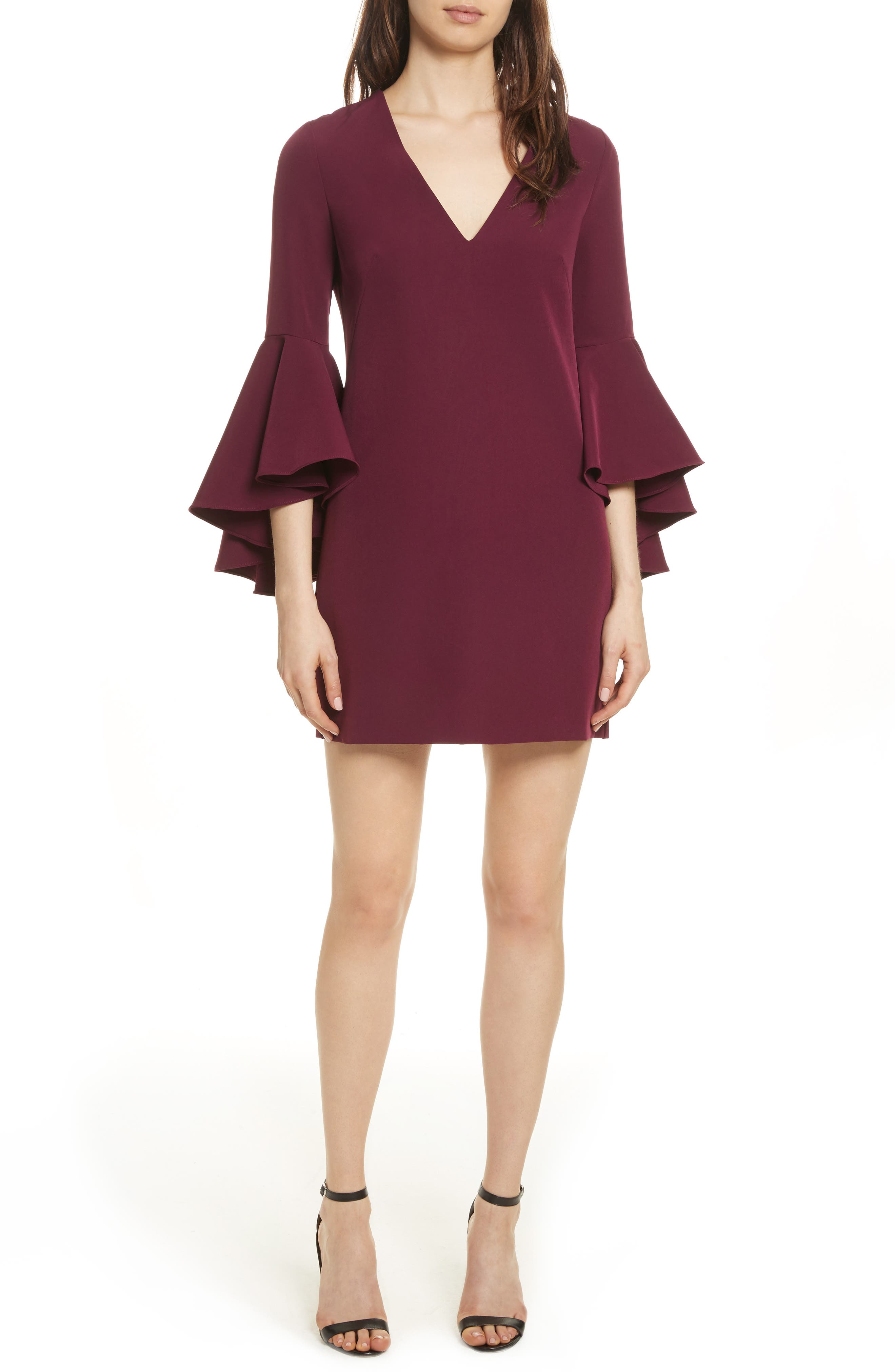 Nicole Bell Sleeve Dress,                             Main thumbnail 2, color,