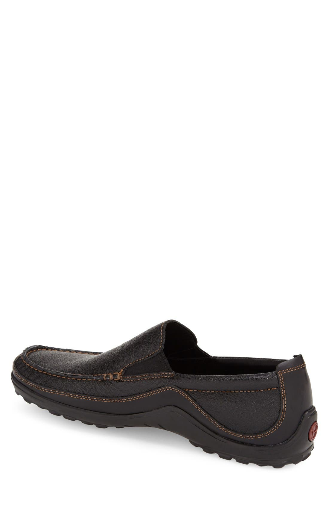 'Tucker Venetian' Loafer,                             Alternate thumbnail 3, color,                             BLACK
