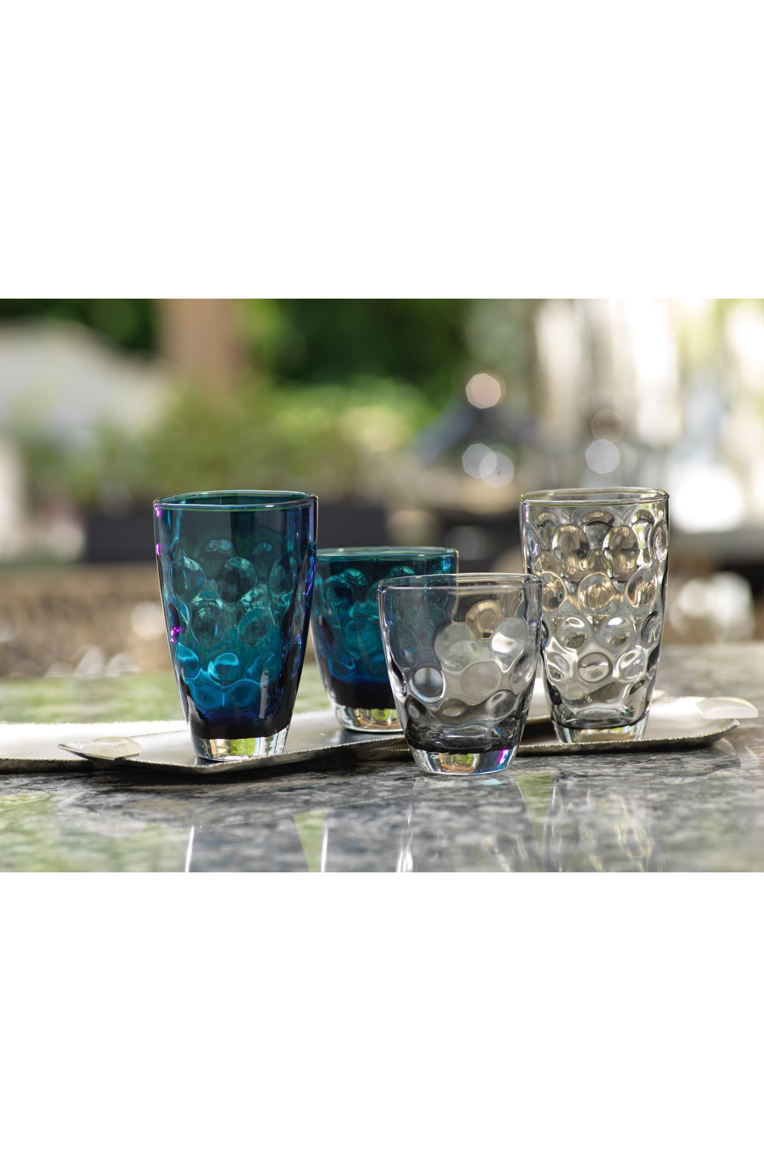 Dimpled Set of 6 Double Old Fashioned Glasses,                             Alternate thumbnail 2, color,                             400