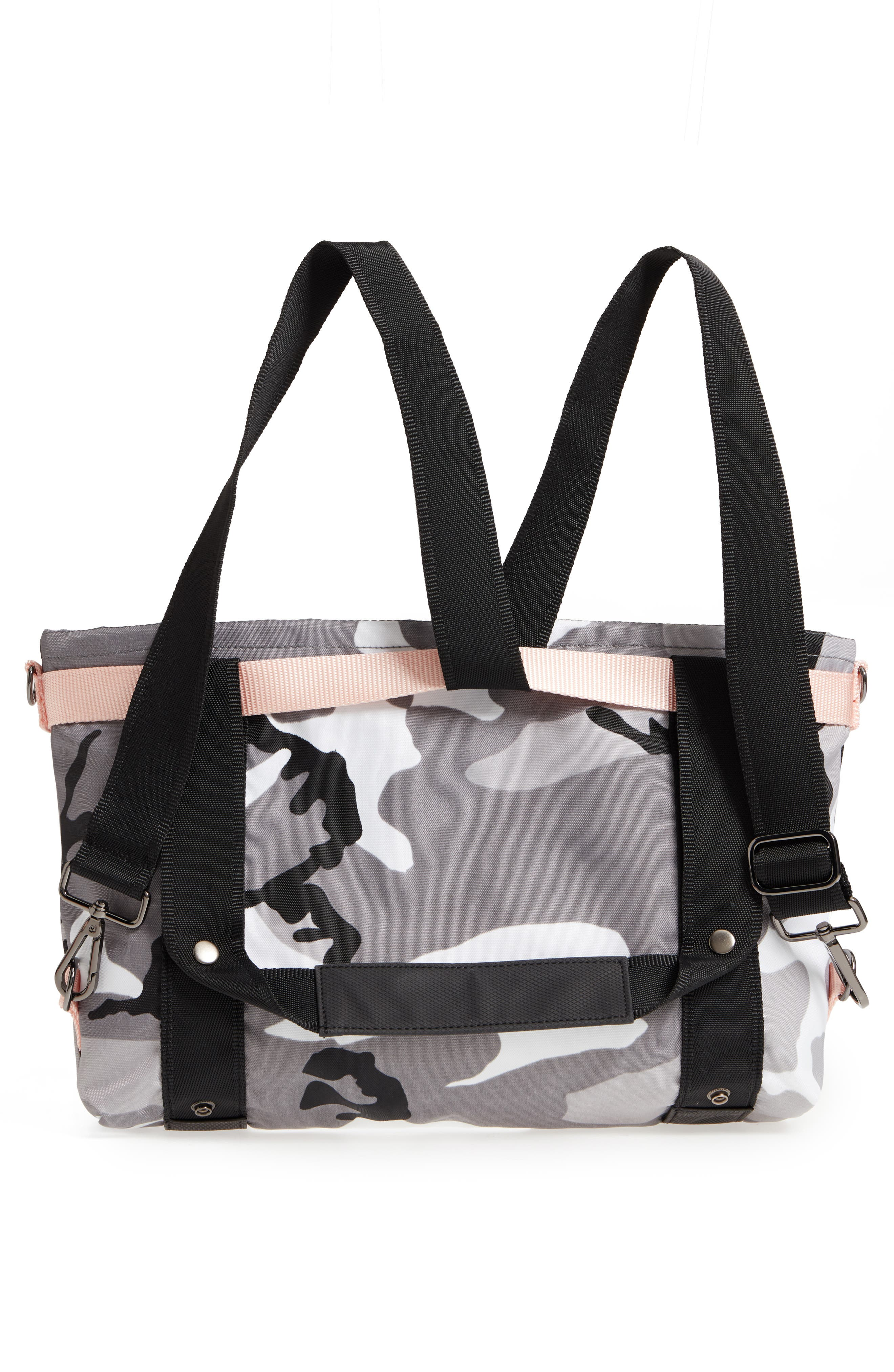The ANDI Small Convertible Tote,                             Alternate thumbnail 3, color,                             BLACK/ WHITE/ GRAY/ PINK