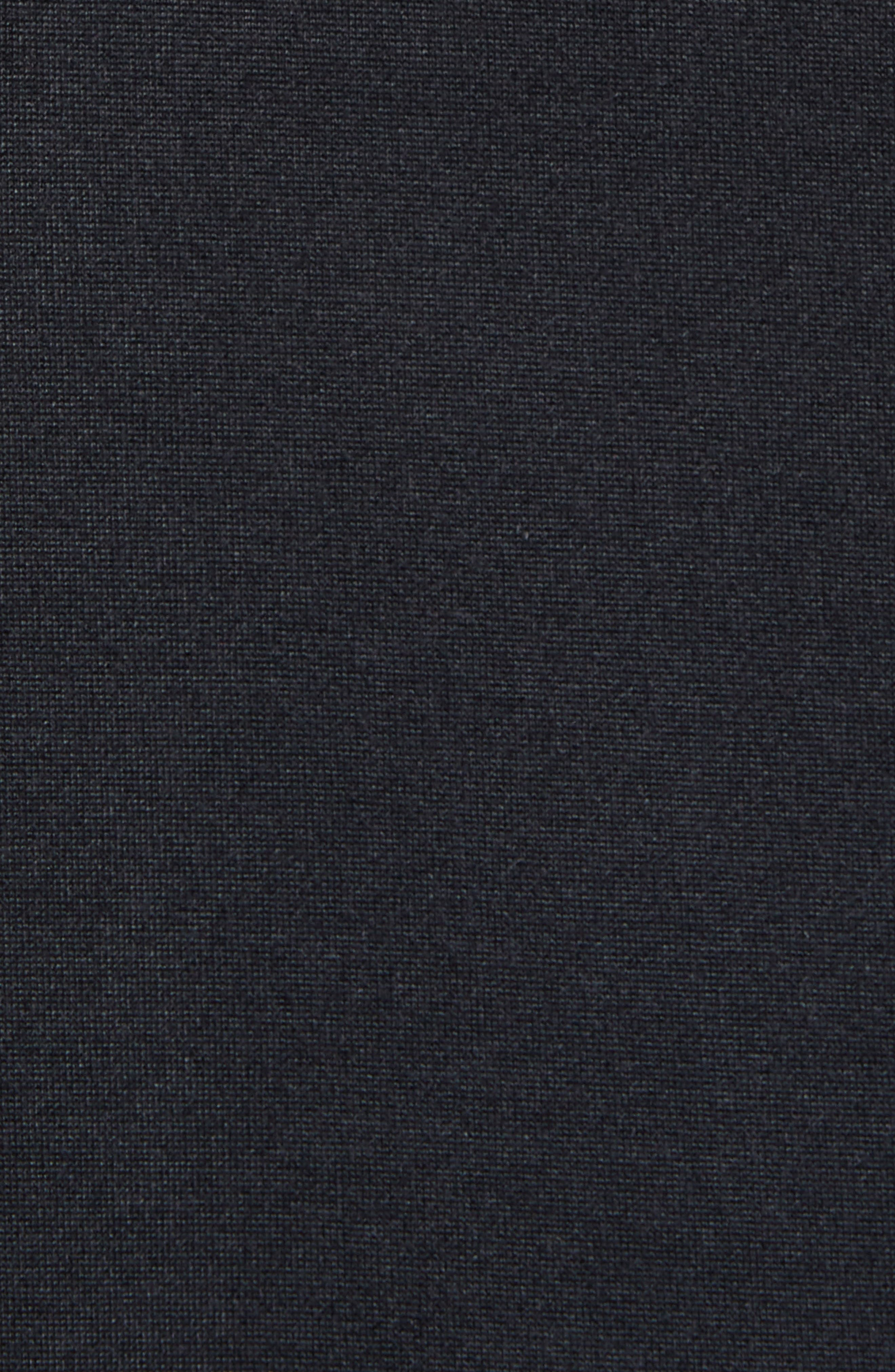 Nike Air Jordon Short Sleeve Basketball Hoodie,                             Alternate thumbnail 5, color,                             BLACK/ WHITE