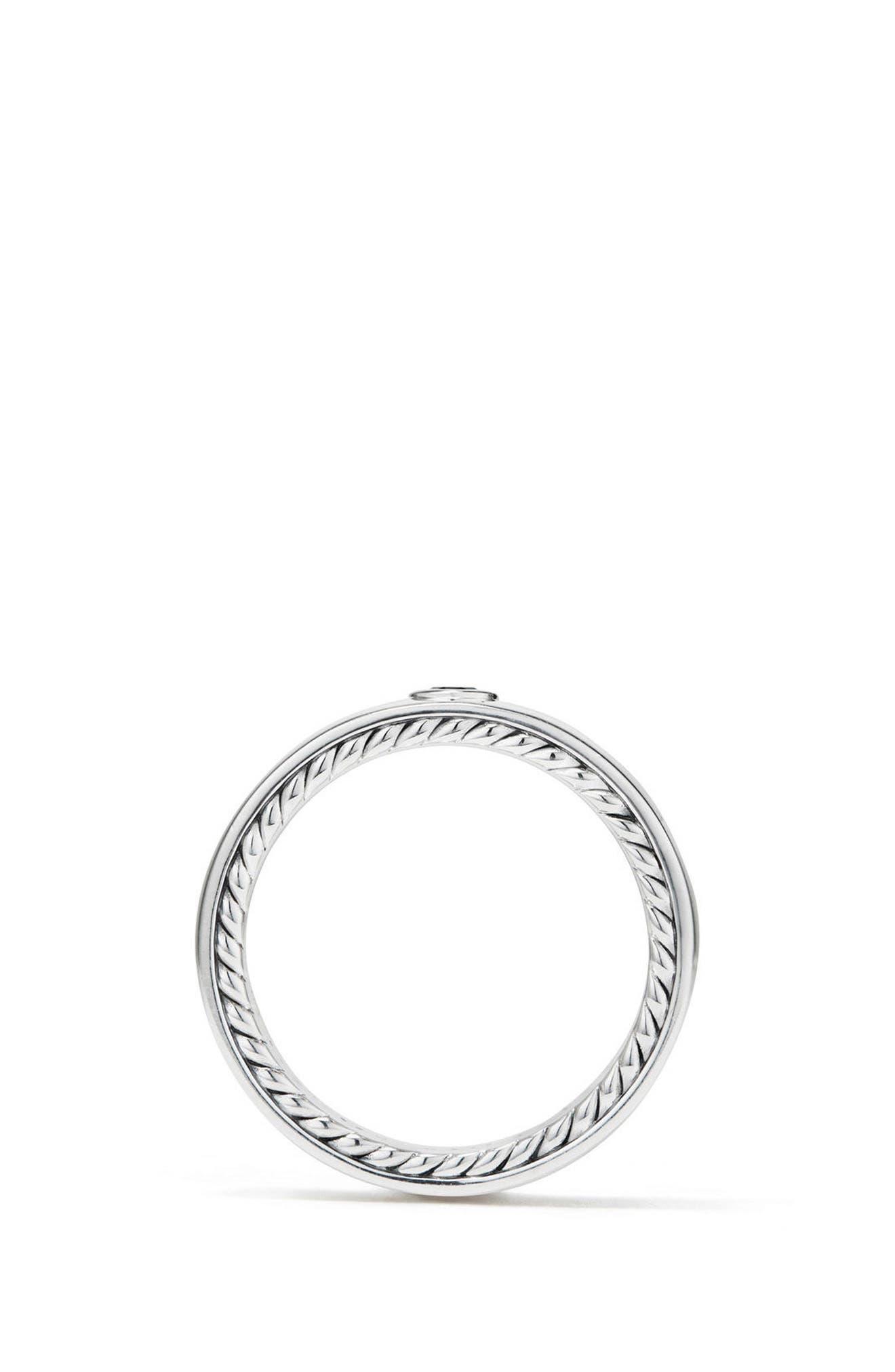 Streamline Band Ring with Black Diamond, 6mm,                             Alternate thumbnail 2, color,                             SILVER/ BLACK DIAMOND