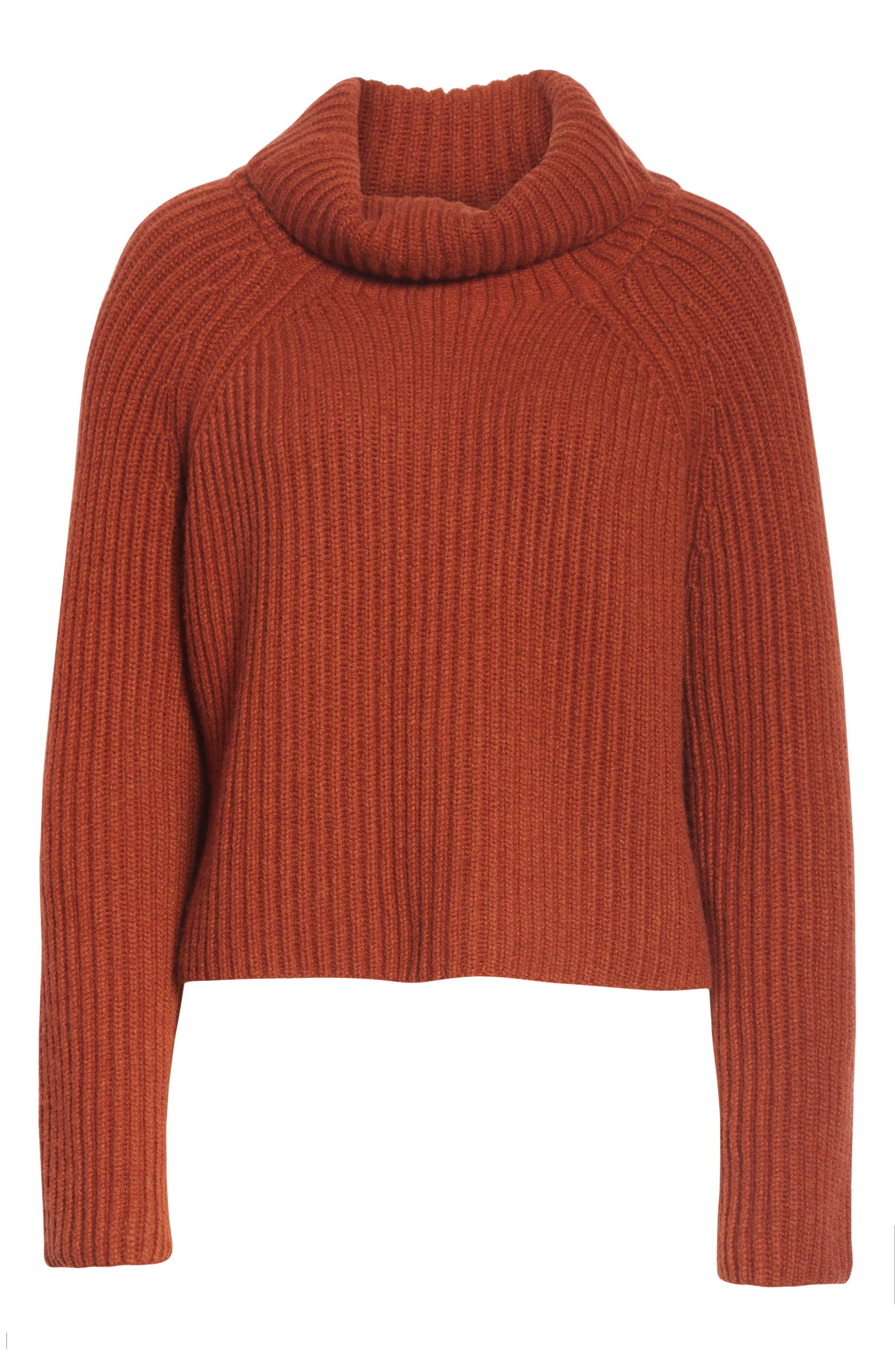 Ribbed Cashmere Turtleneck Sweater,                             Alternate thumbnail 6, color,                             221