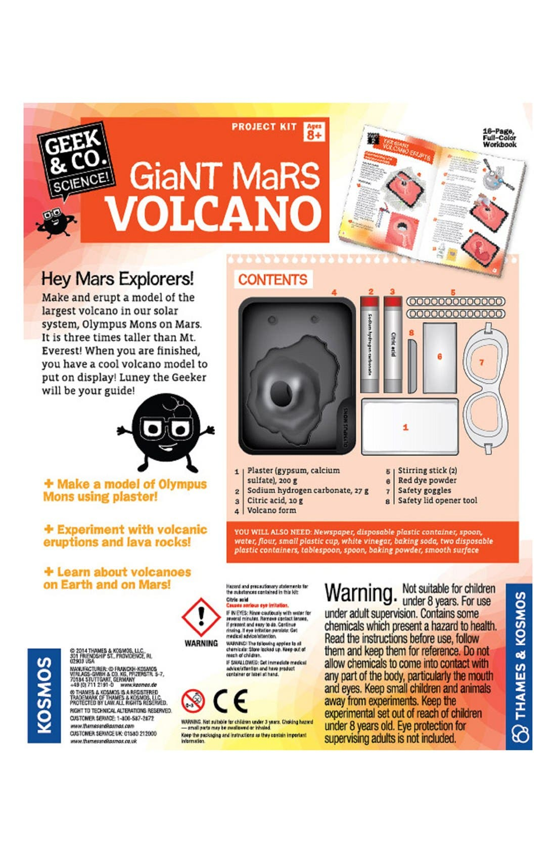 'Giant Mars Volcano' Project Kit,                             Alternate thumbnail 2, color,                             800