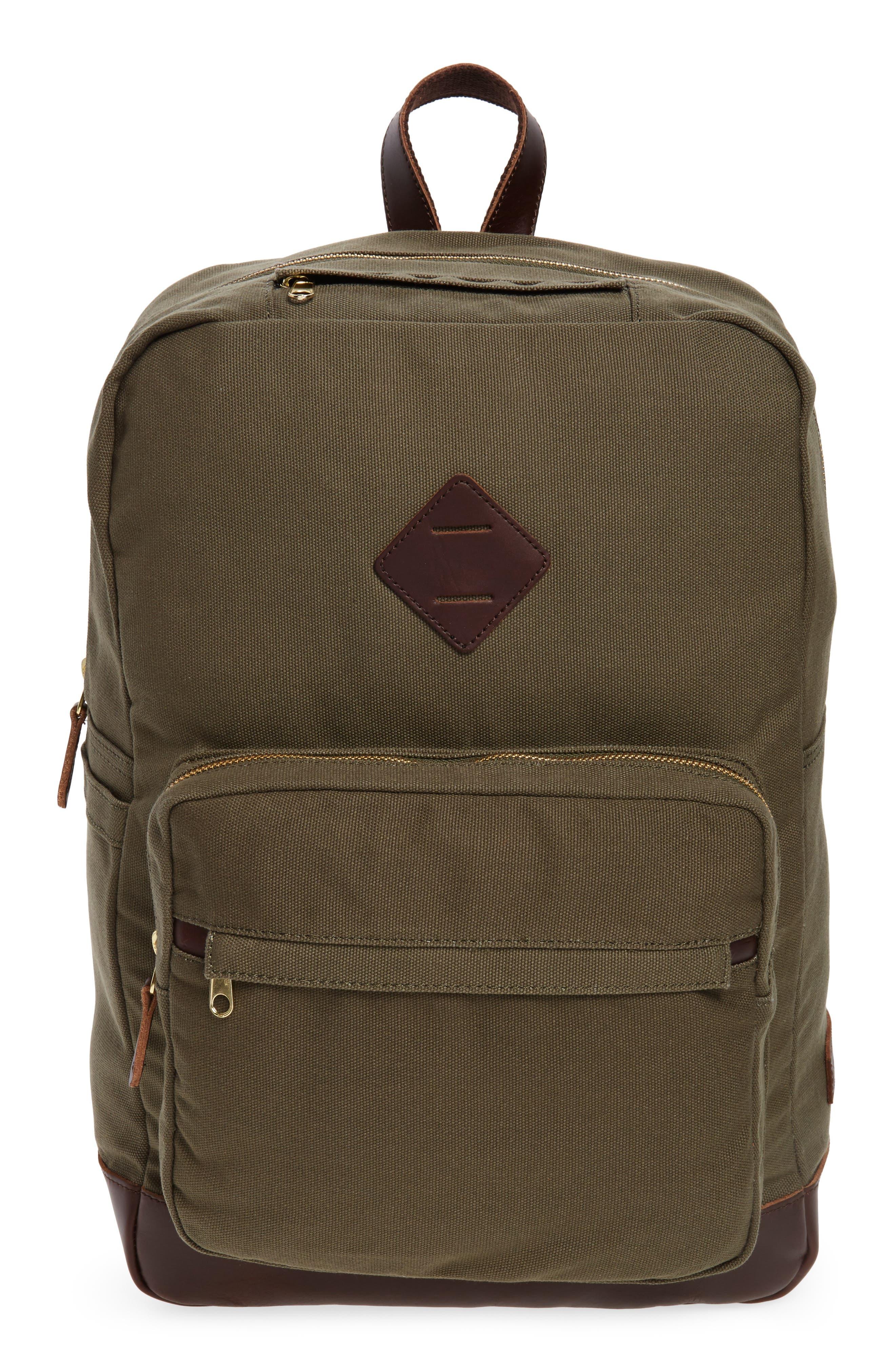 Hudderton Backpack,                         Main,                         color, MOSS