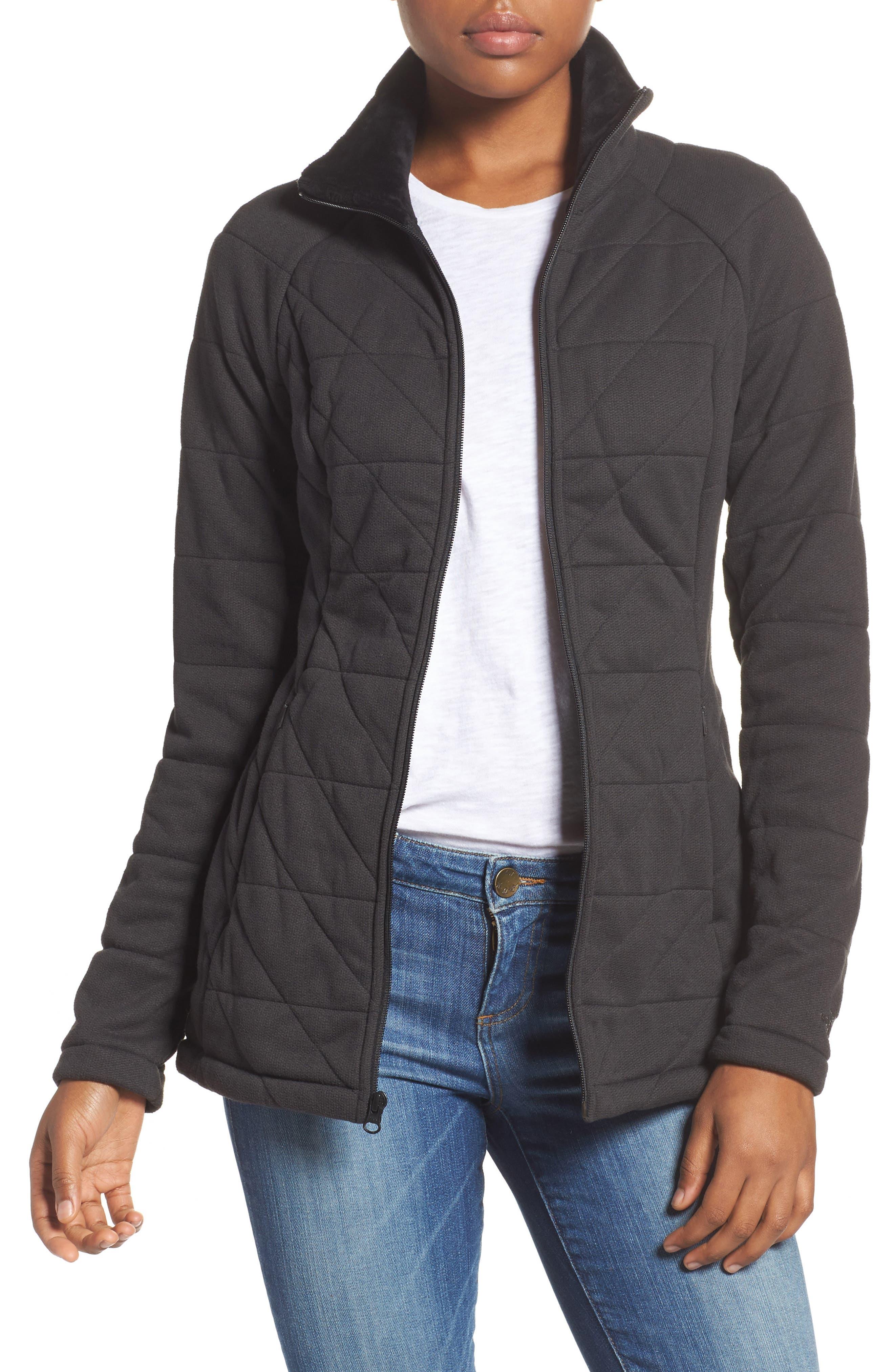 Fleece Jacket,                             Main thumbnail 1, color,                             001