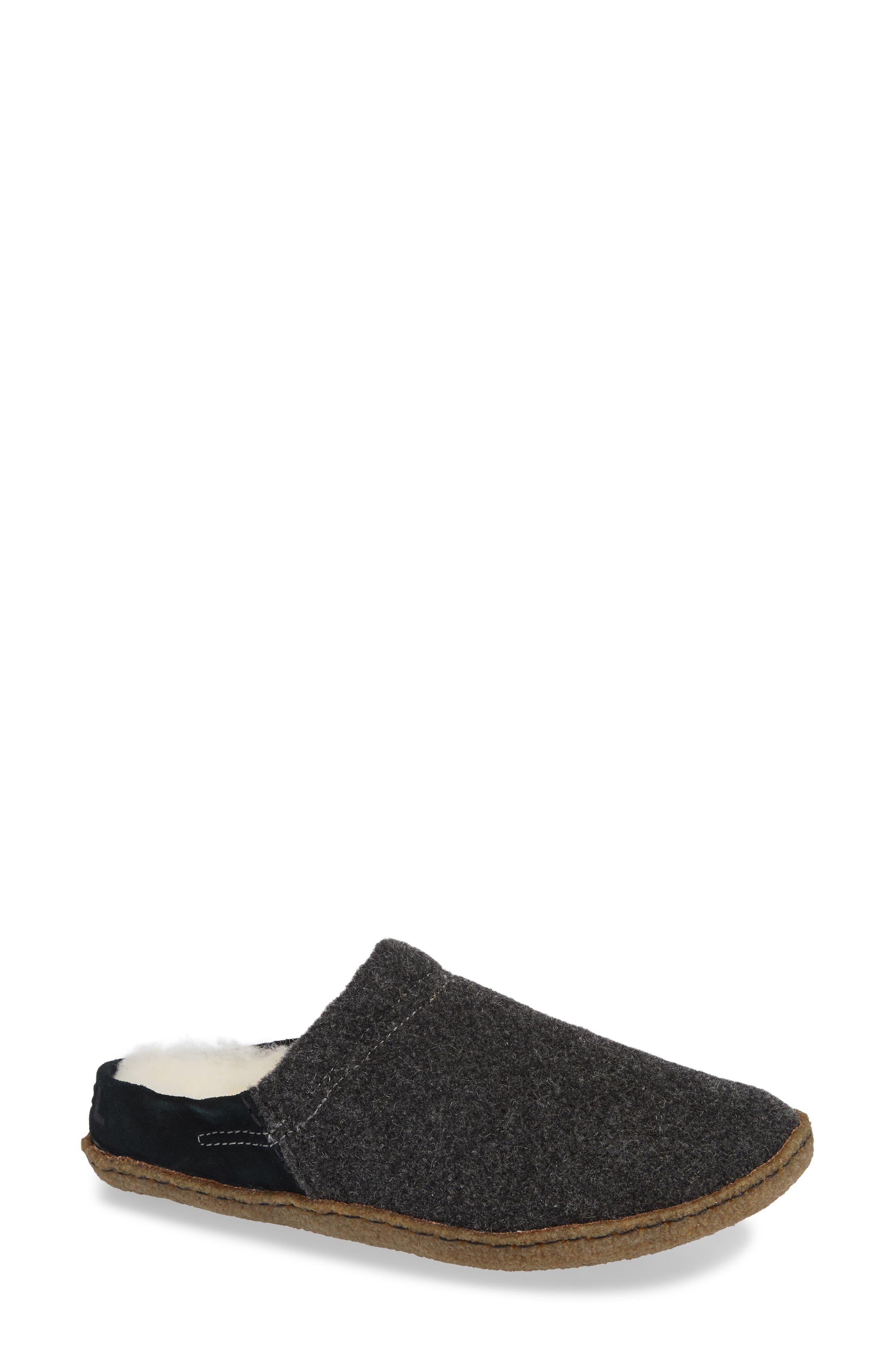 Nakiska Scuff Slipper, Main, color, BLACK/ NATURAL