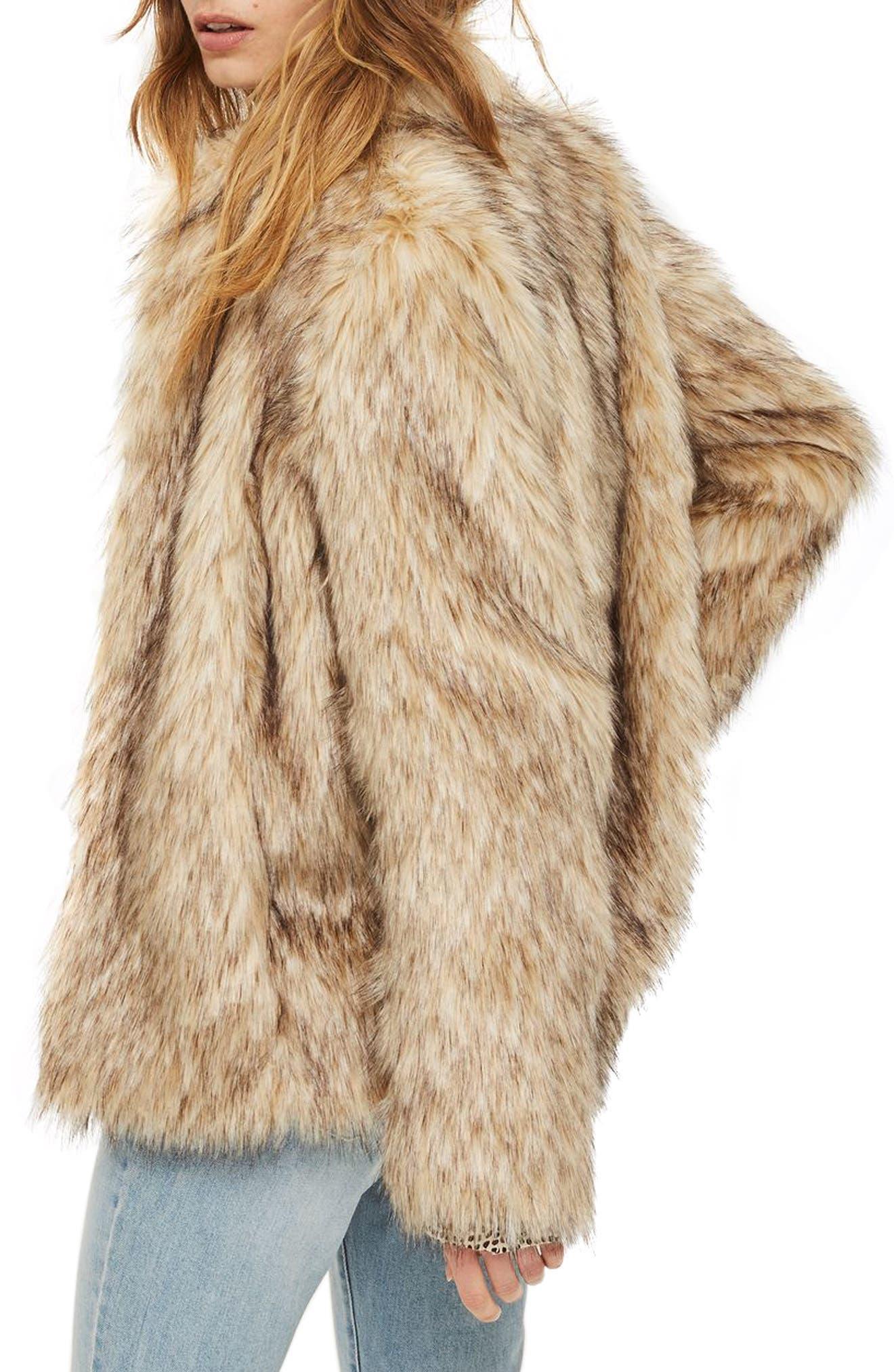 Kendall Faux Fur Jacket,                             Alternate thumbnail 2, color,                             270