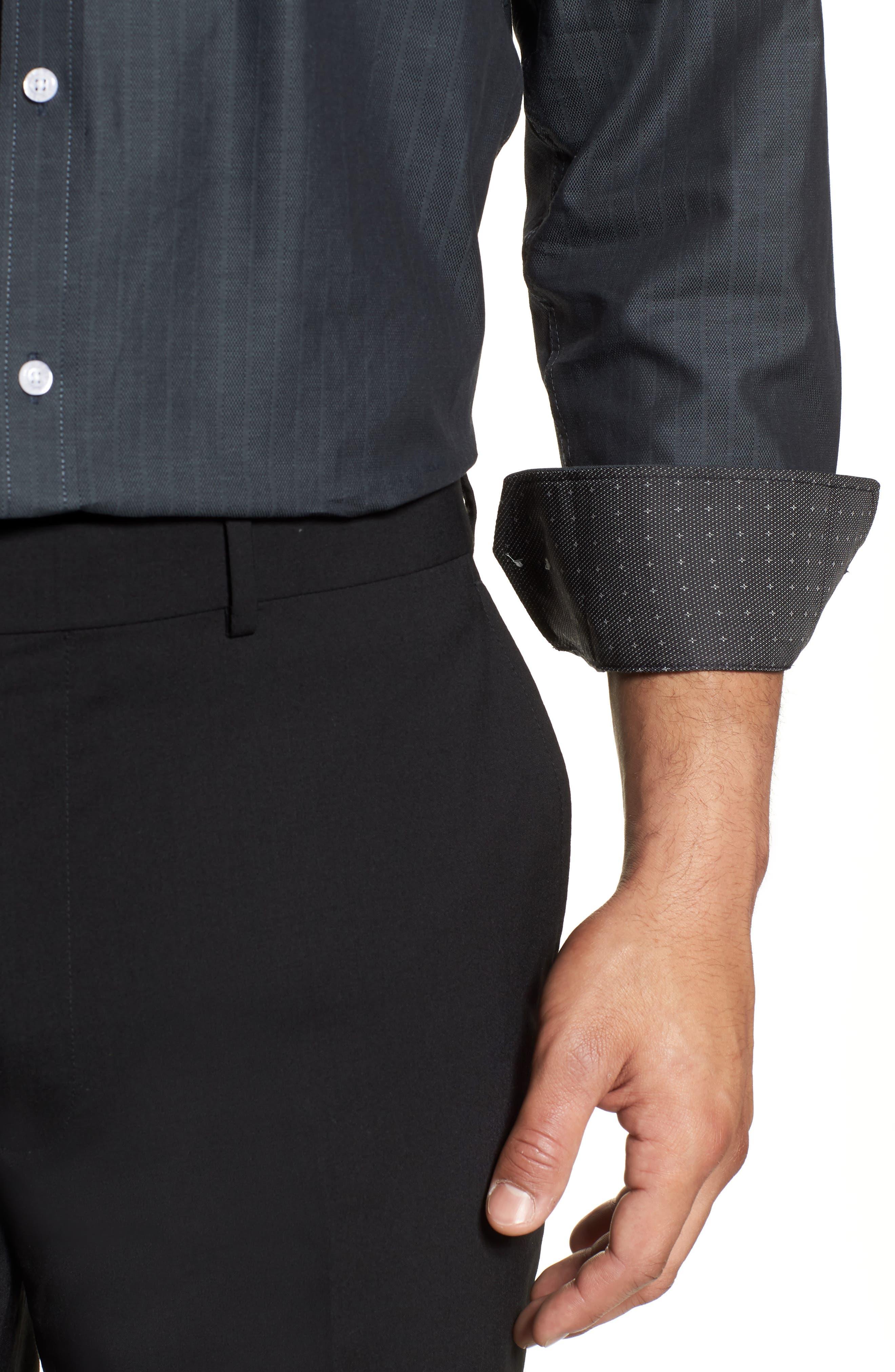 Regular Fit Solid Dress Shirt,                             Alternate thumbnail 2, color,                             GREY