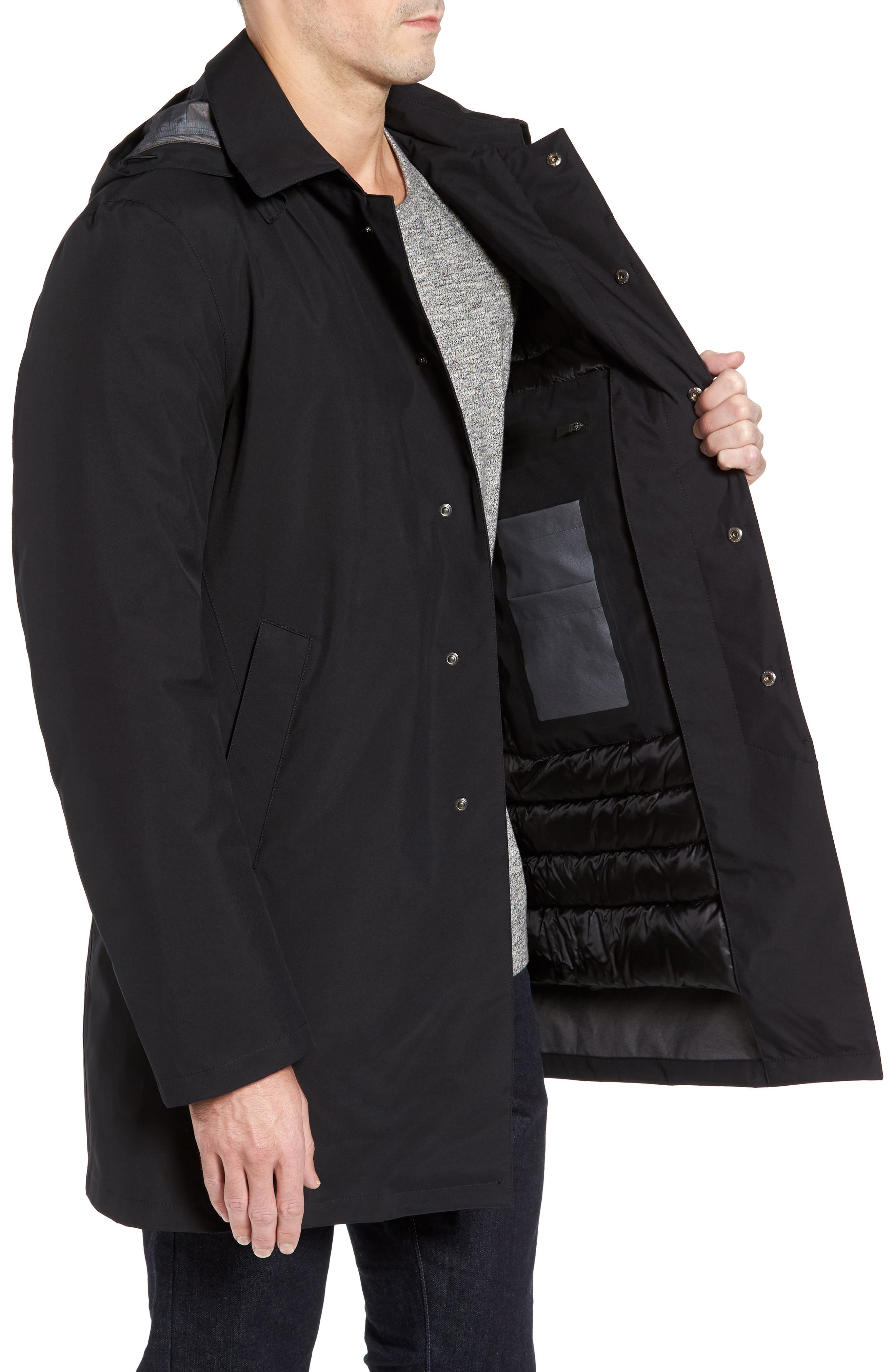 HERNO,                             Gore-Tex<sup>®</sup> 3-Layer Jacket,                             Alternate thumbnail 3, color,                             001