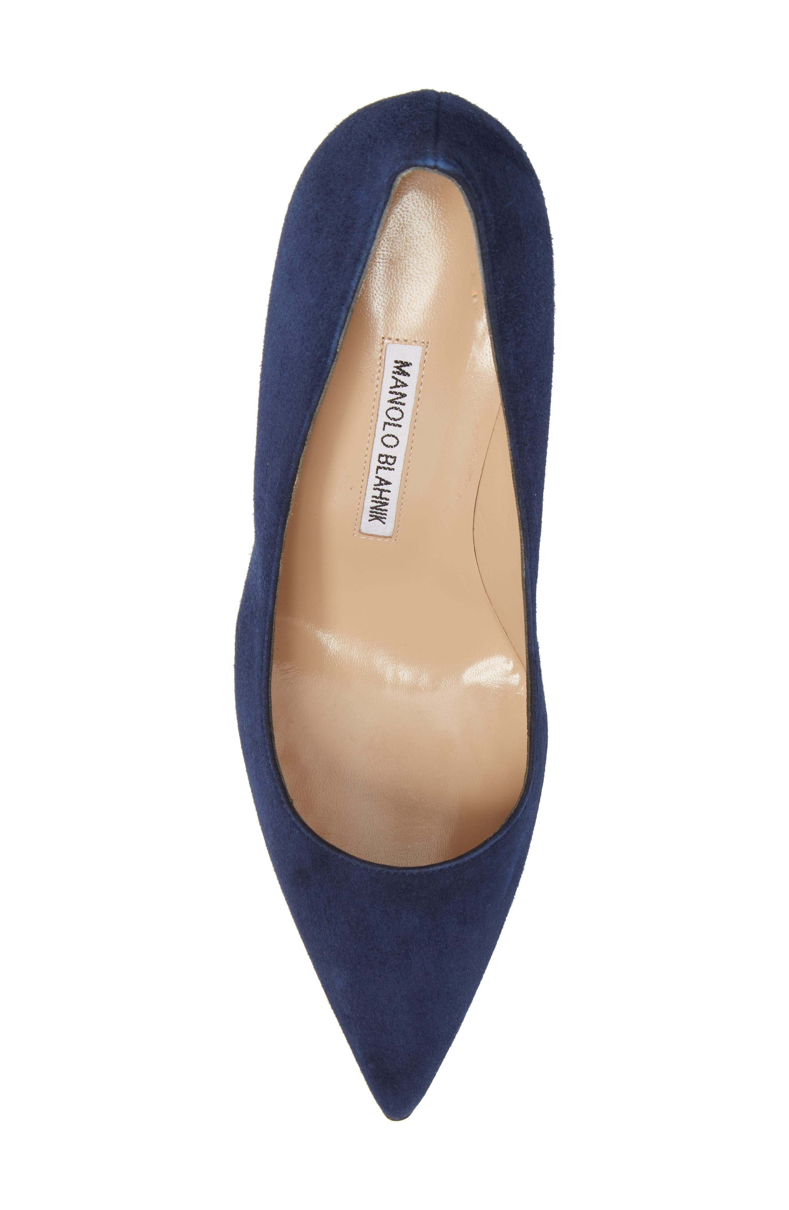 BB Pointy Toe Pump,                             Alternate thumbnail 5, color,                             NAVY SUEDE
