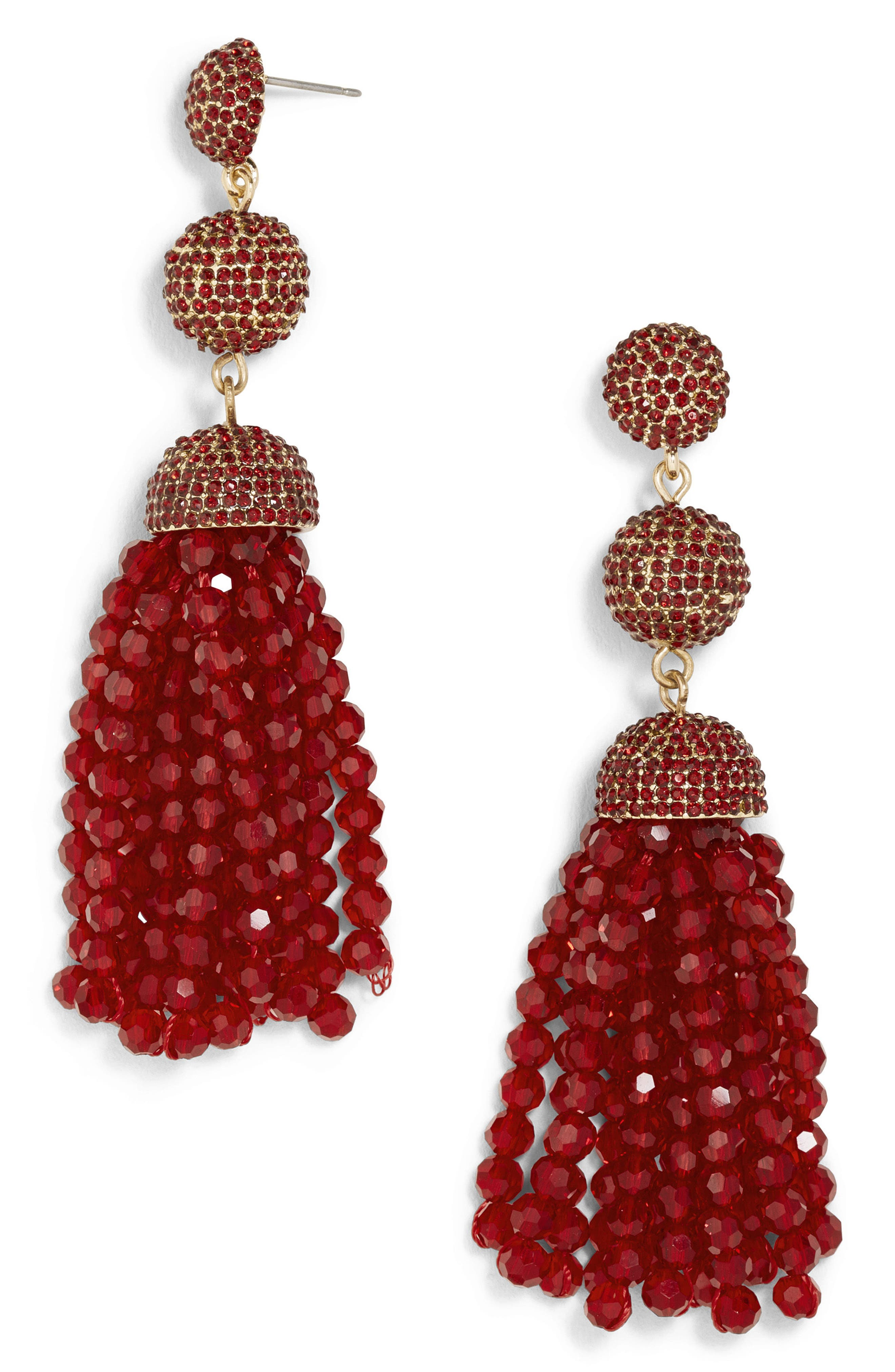 Tinsley Beaded Tassel Drop Earrings,                             Main thumbnail 4, color,