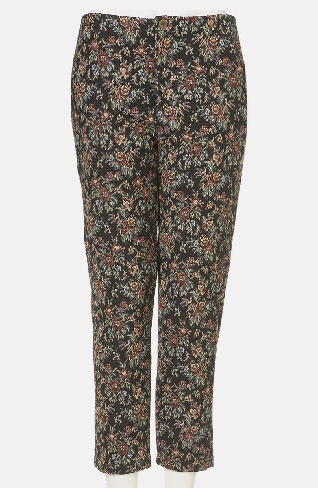 Tapestry Print Skinny Pants, Main, color, 001