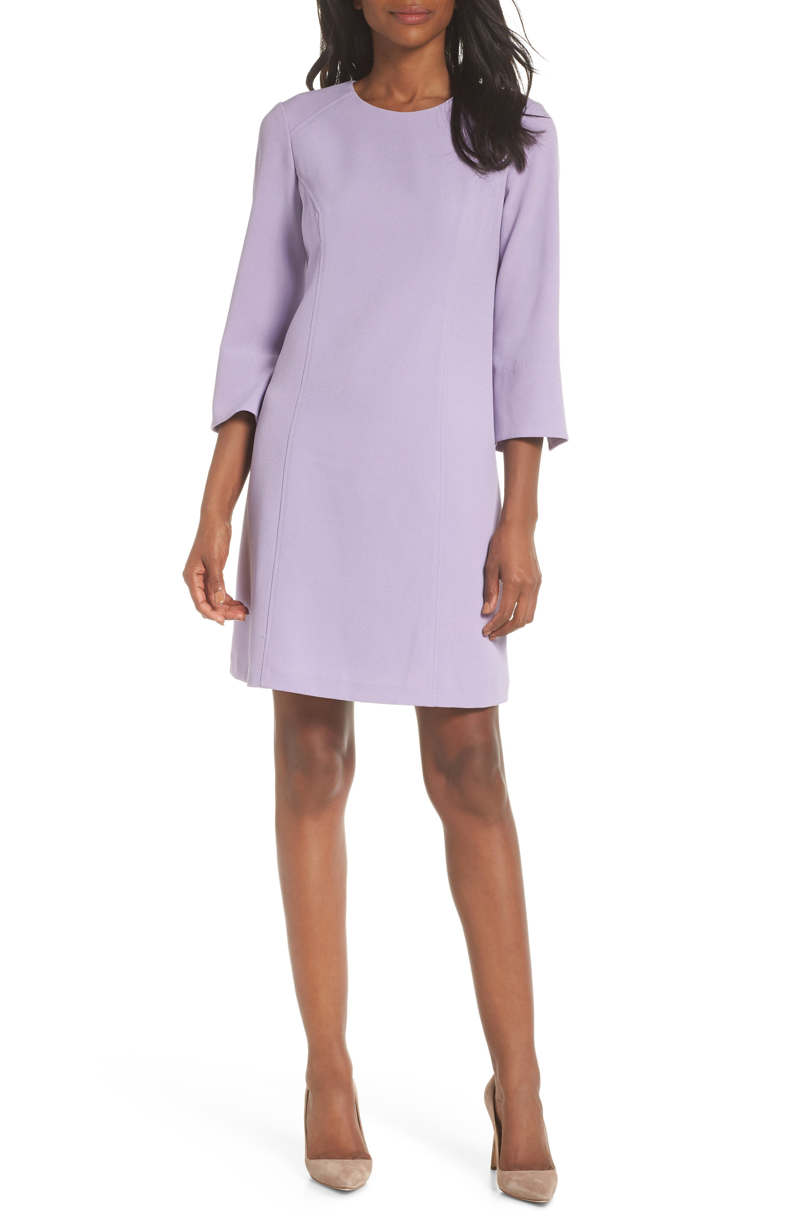 Vince Camuto Kors Crepe Shift Dress, Purple