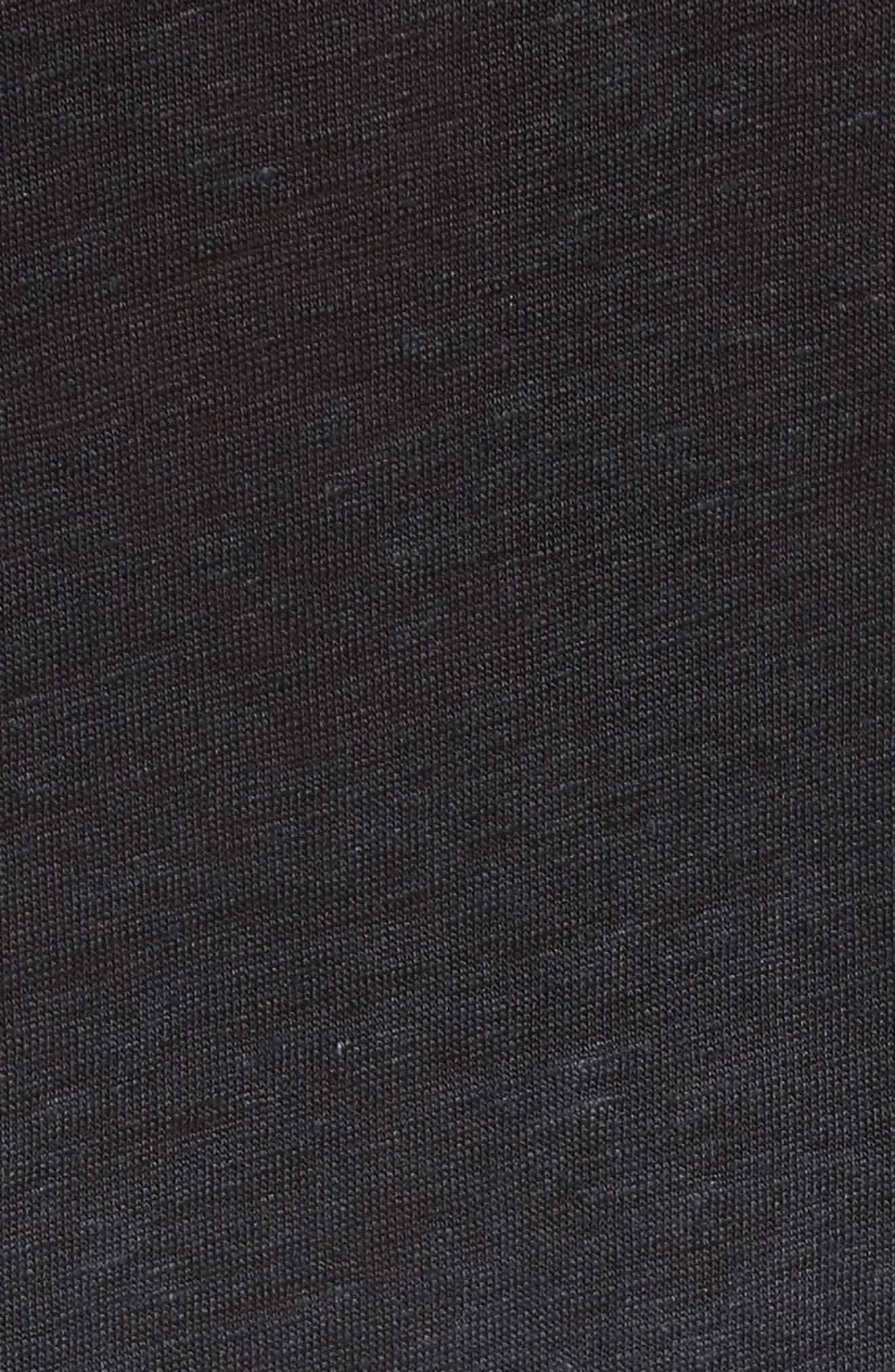 Dip Dyed Linen T-Shirt,                             Alternate thumbnail 5, color,                             001