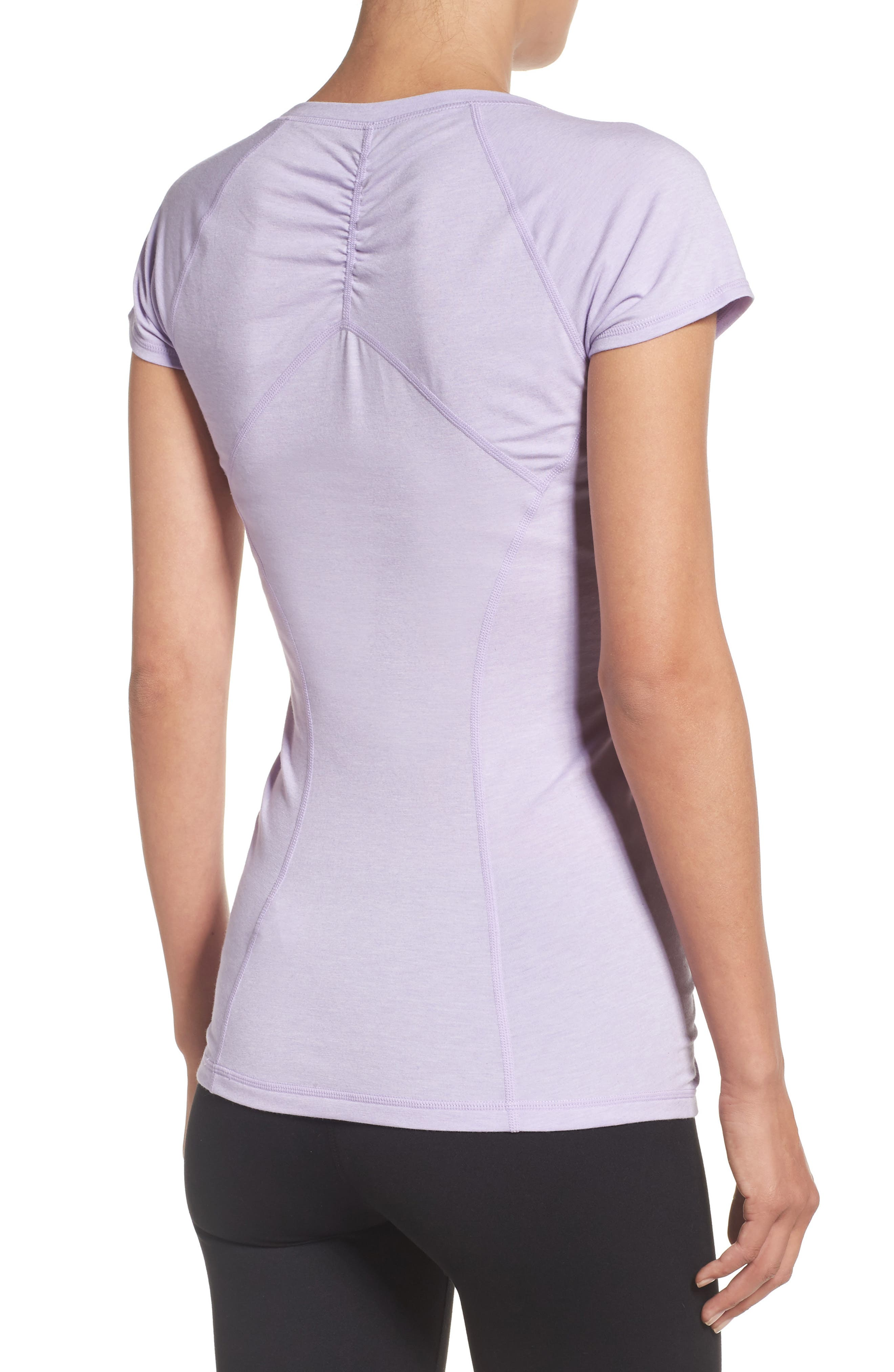 'Z 6' Ruched Tee,                             Alternate thumbnail 33, color,