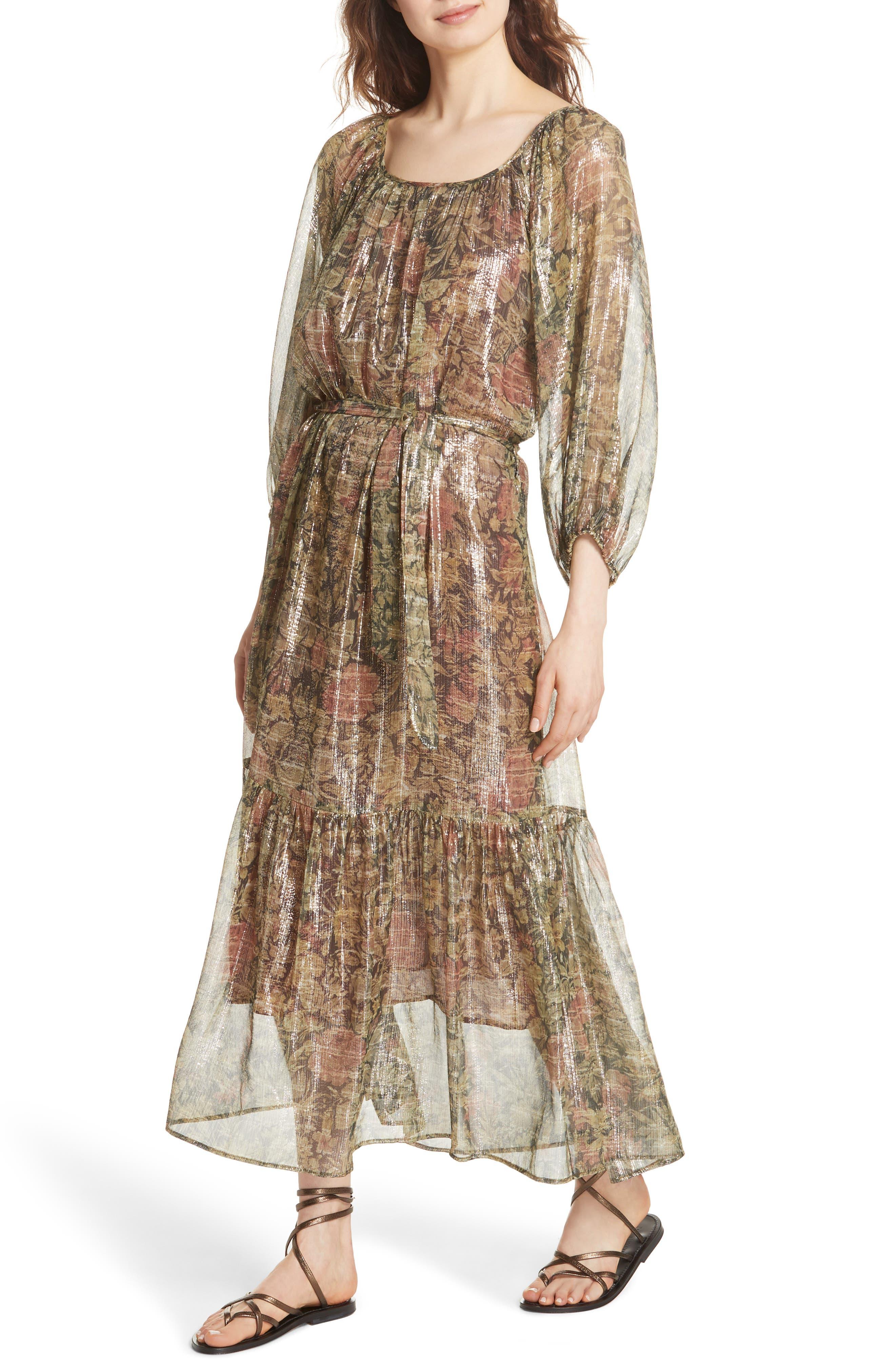 Print Dress,                             Alternate thumbnail 4, color,                             391