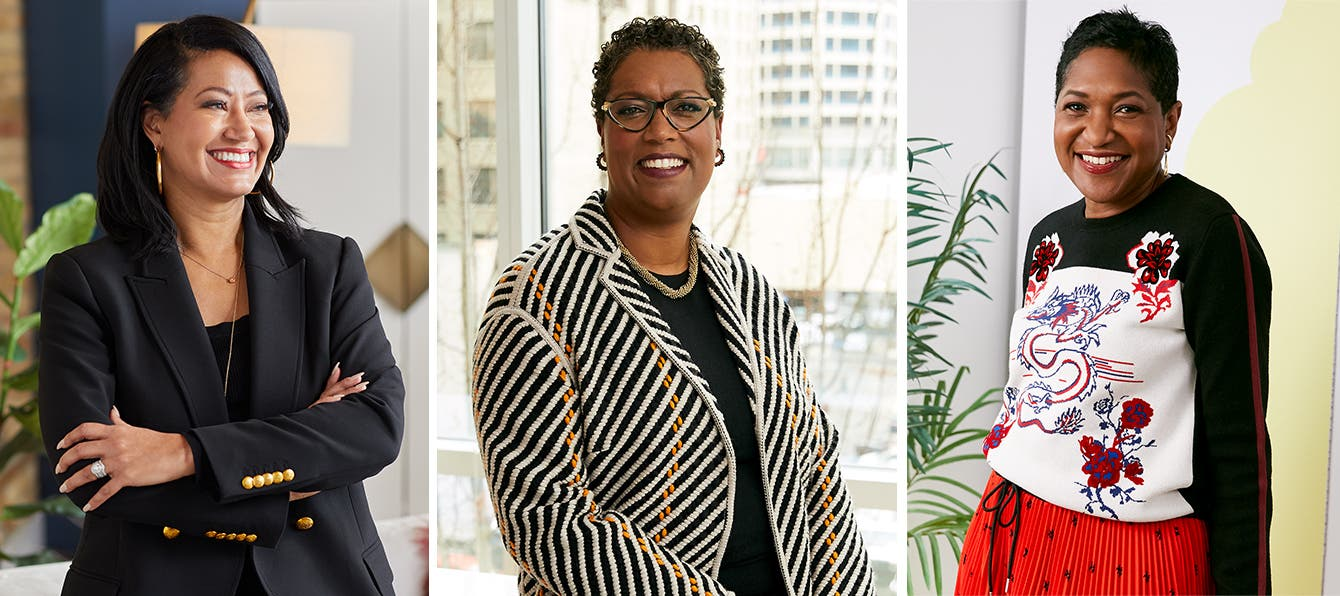 Three female African American executives from Nordstrom: Fanya Chandler, Farrell Redwine and Beverly Mills.