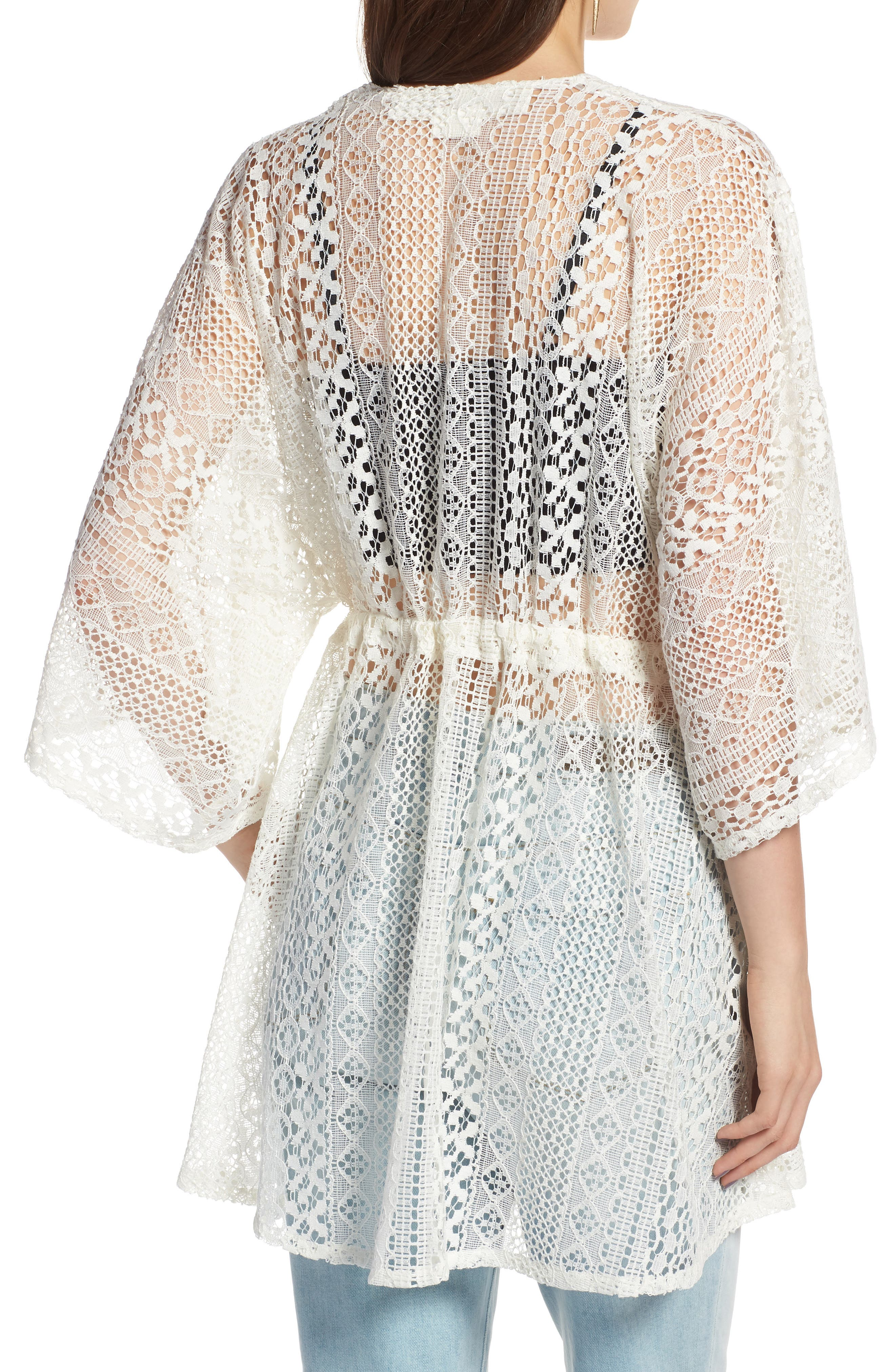 Lace Kimono Pullover,                             Alternate thumbnail 4, color,