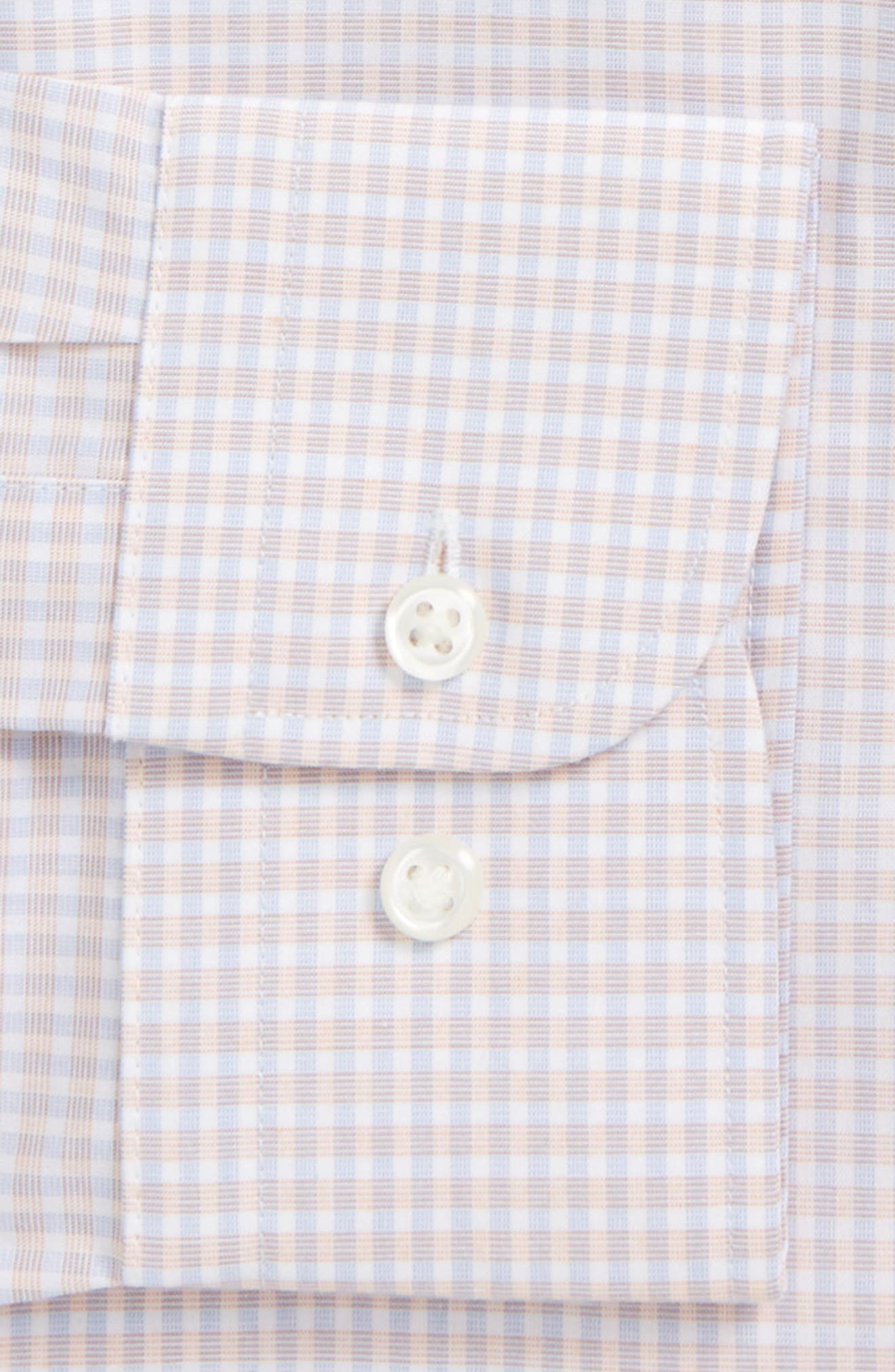 Extra Trim Fit Non-Iron Check Dress Shirt,                             Alternate thumbnail 18, color,