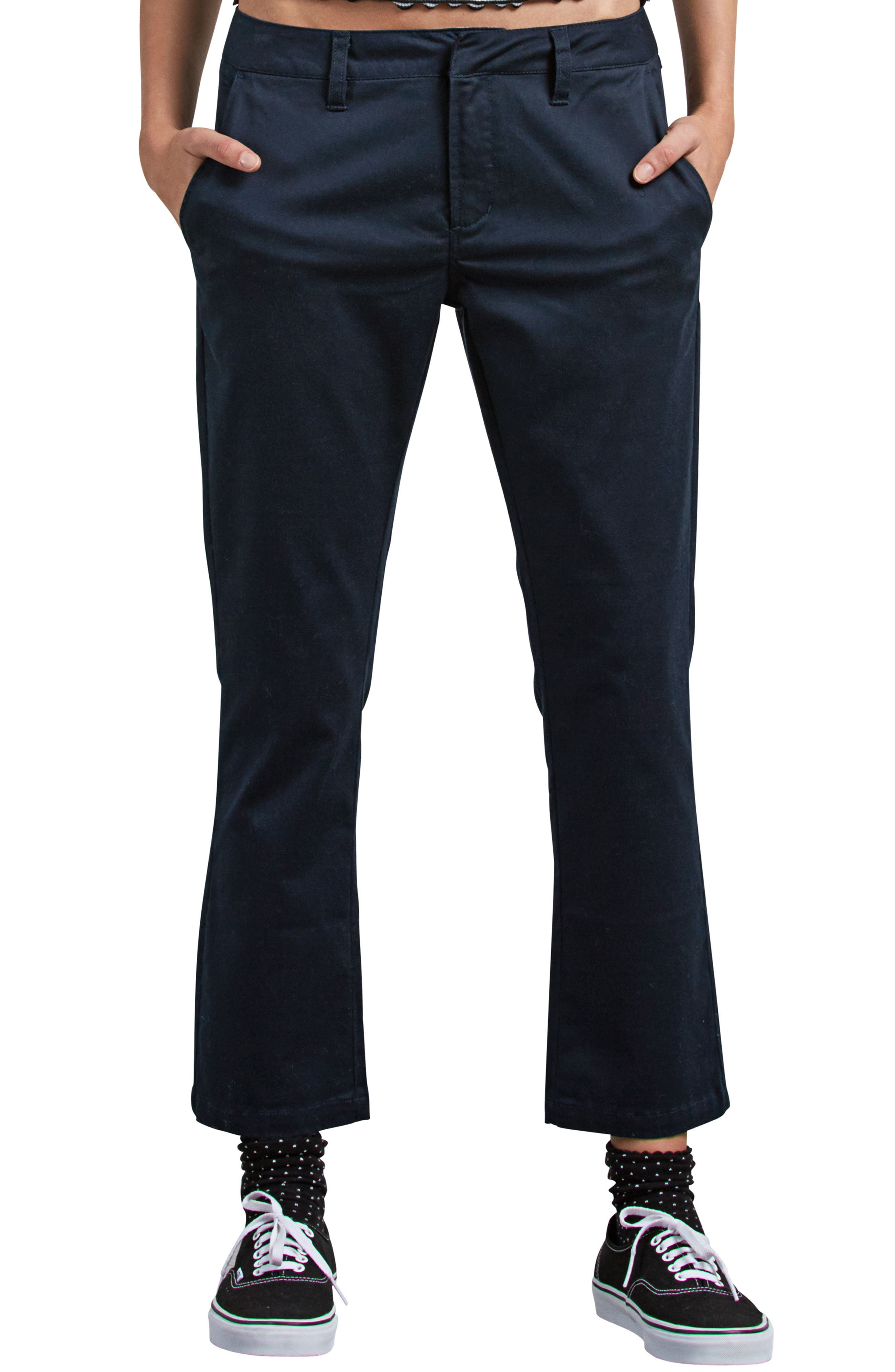 Frochickie Crop Pants,                         Main,                         color, NAVY