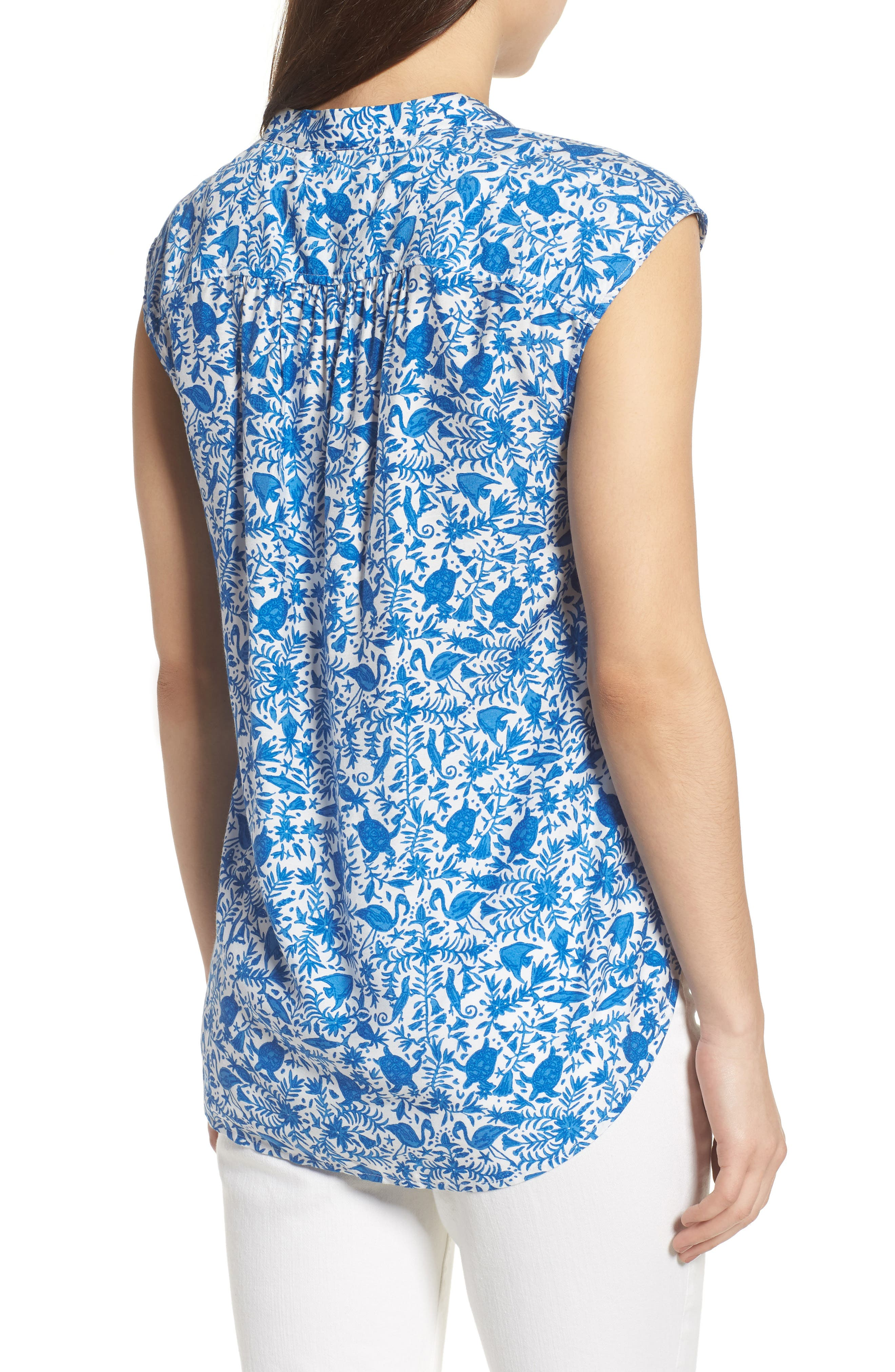 Bahamas Otomi Sleeveless Cotton Top,                             Alternate thumbnail 2, color,                             413